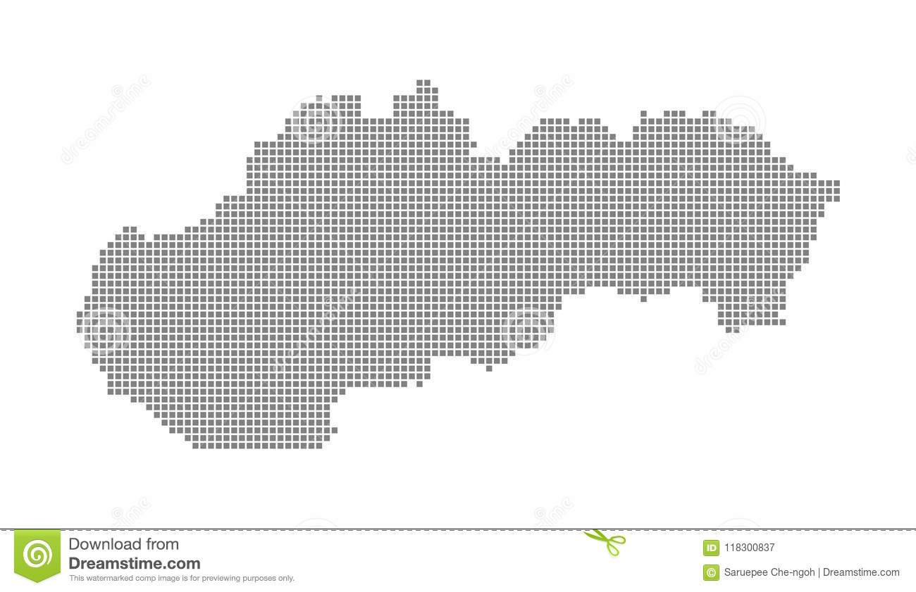Pixel Map Of Slovakia  Vector Dotted Map Of Slovakia