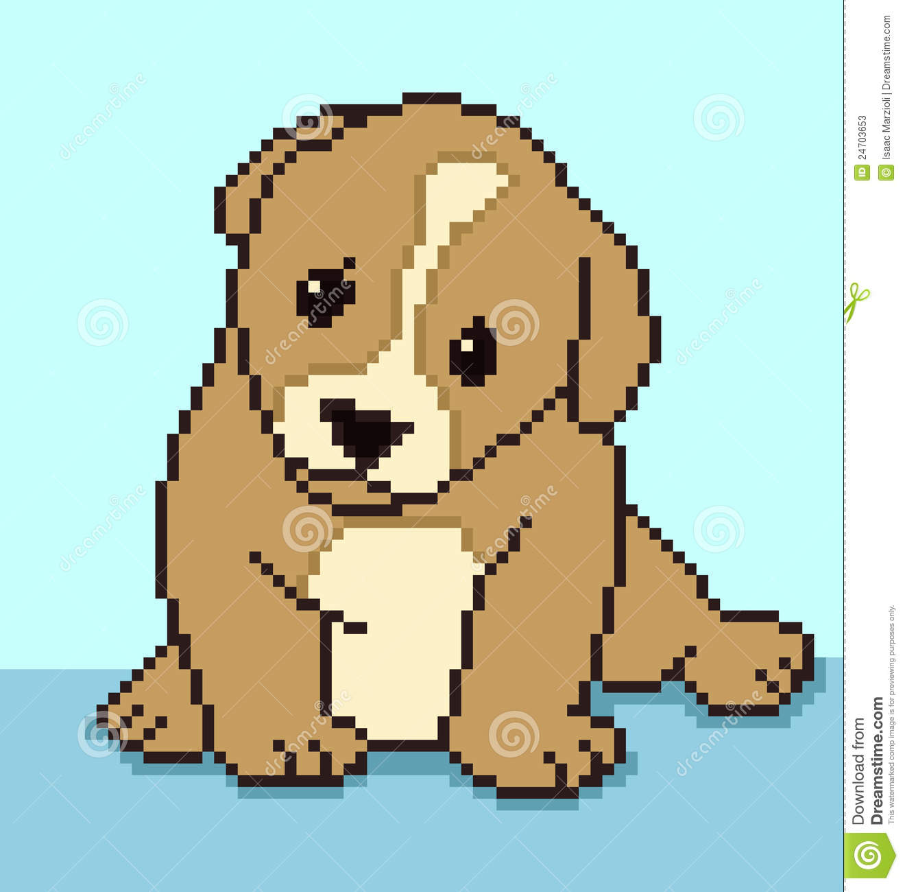 Pixel Puppy Stock Vector Illustration Of Cute Small 24703653