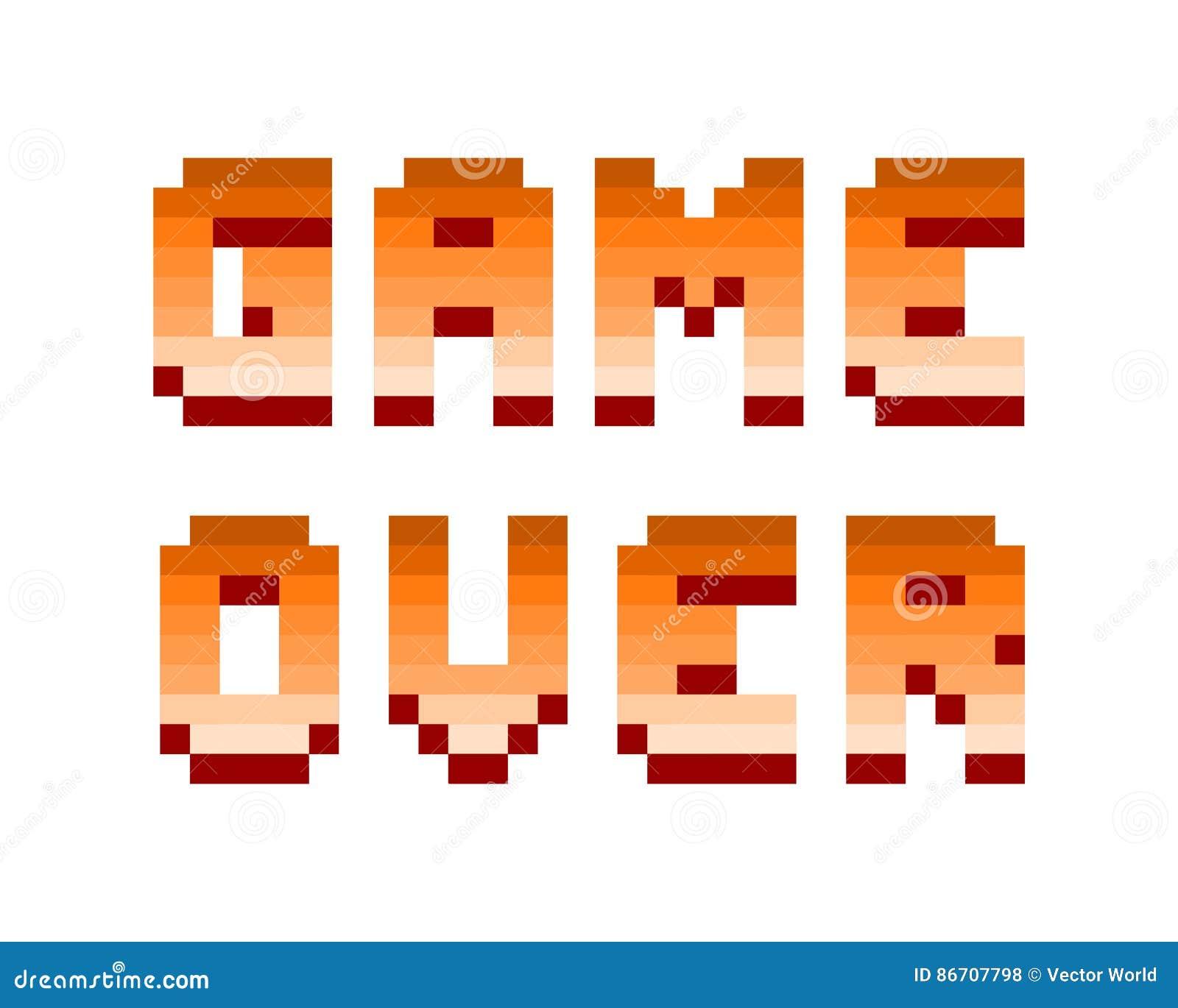 Pixel Retro Computer Game Over Text Design Vector Illustration Stock Vector Illustration Of Icon Symbol 86707798