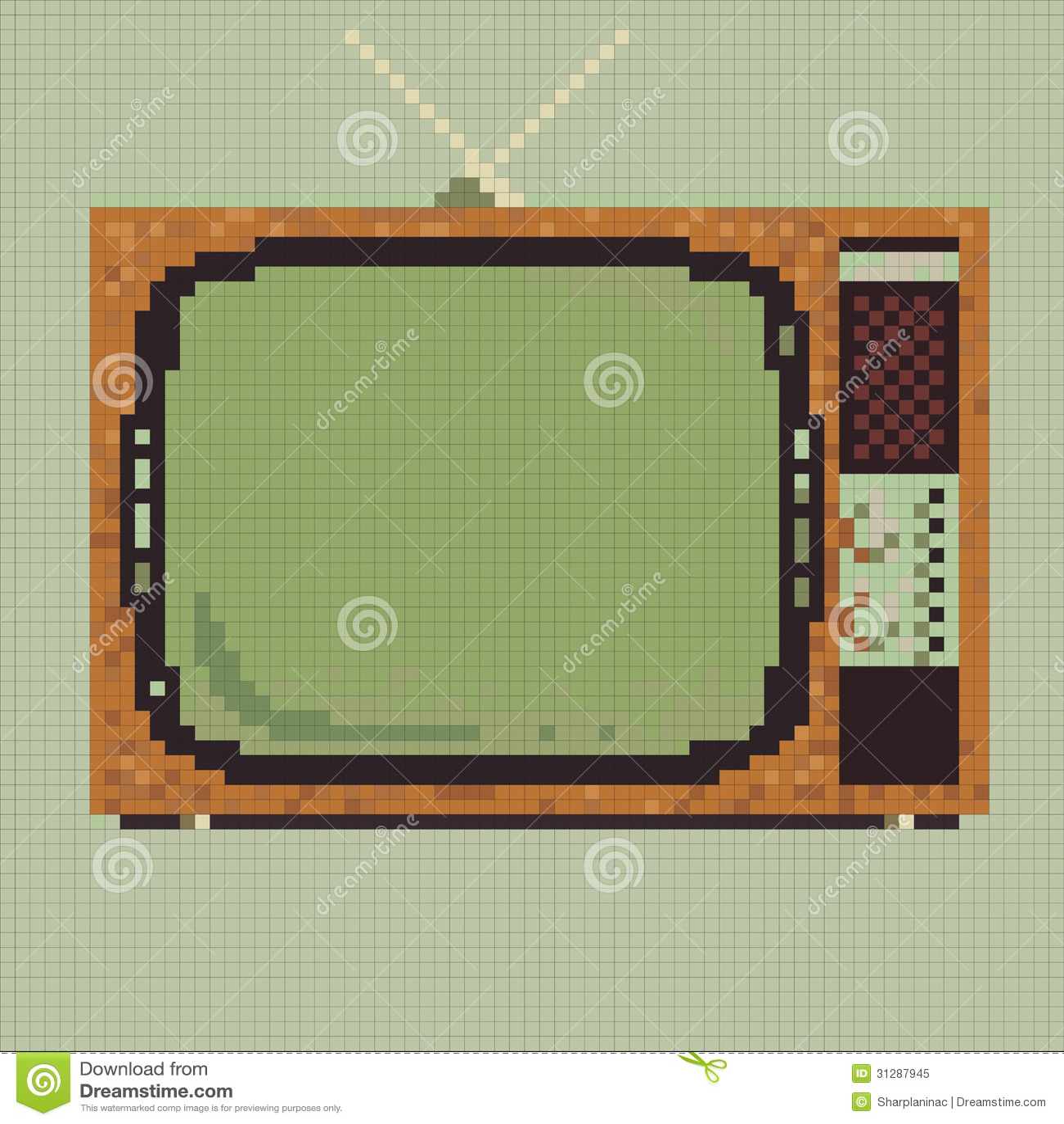 Pixel Retro Tv Royalty Free Stock Photo