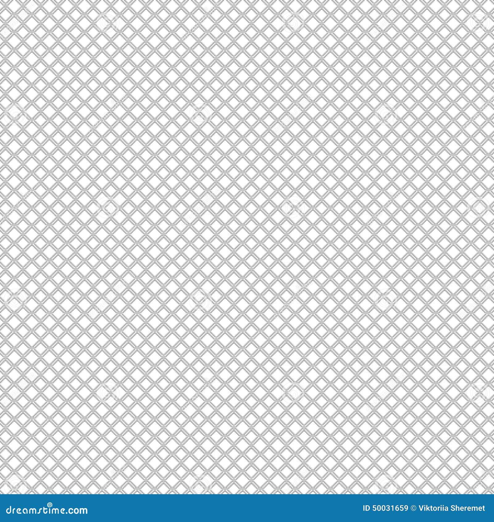 Pixel Subtle Texture Grid Background. Vector Seamless
