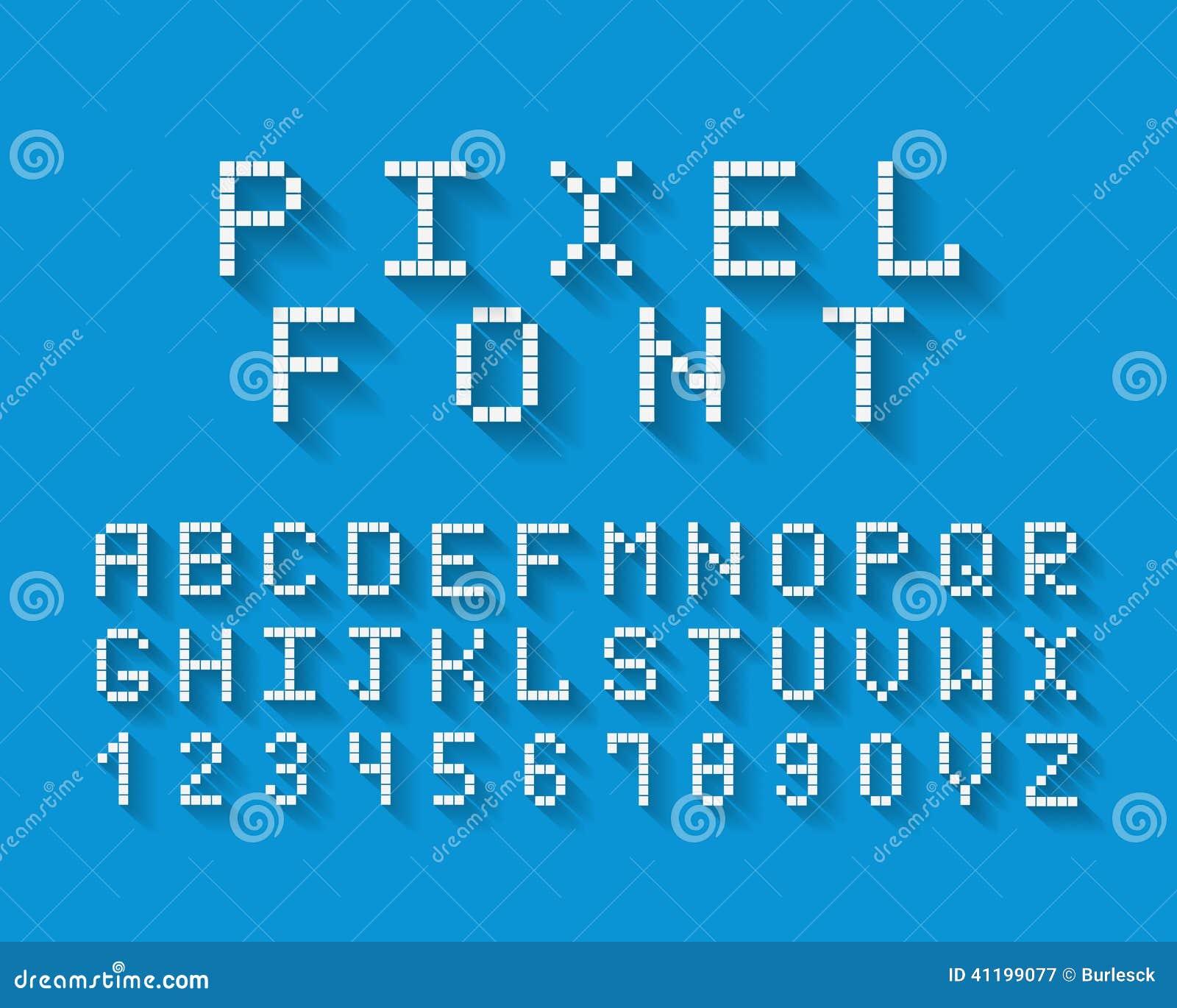 Pixel Vector Font Stock Vector