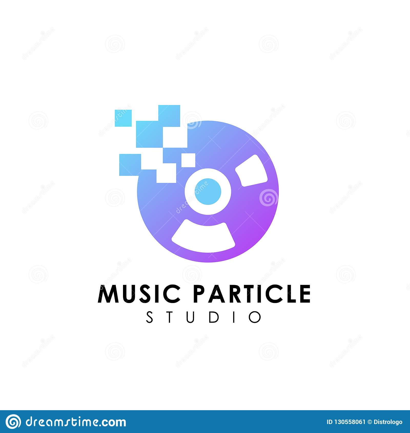 Pixel Vinyl Music Logo Design Template Vinyl Disc Vector Icon Stock Vector Illustration Of Album Studio 130558061