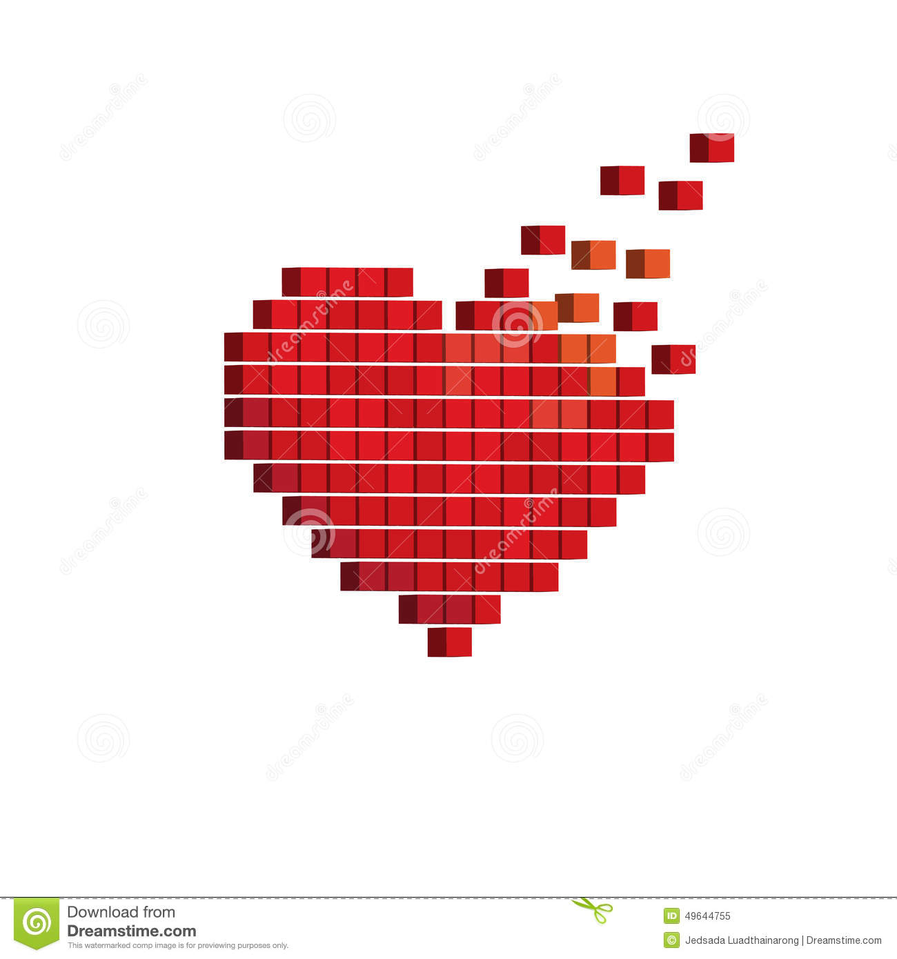Pixels art 3d heart designs love concept stock vector illustration pixels art 3d heart designs love concept stock vector illustration of icon decoration 49644755 ccuart Gallery