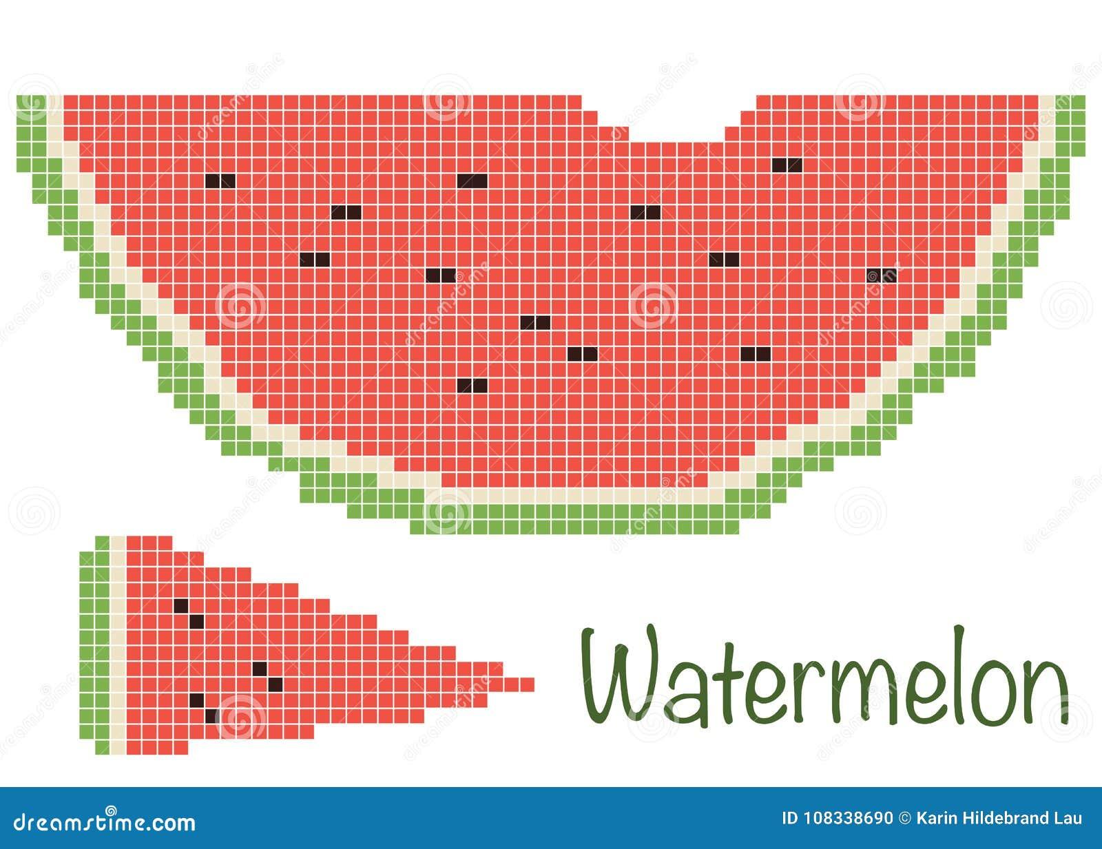 Pixelwatermeloen