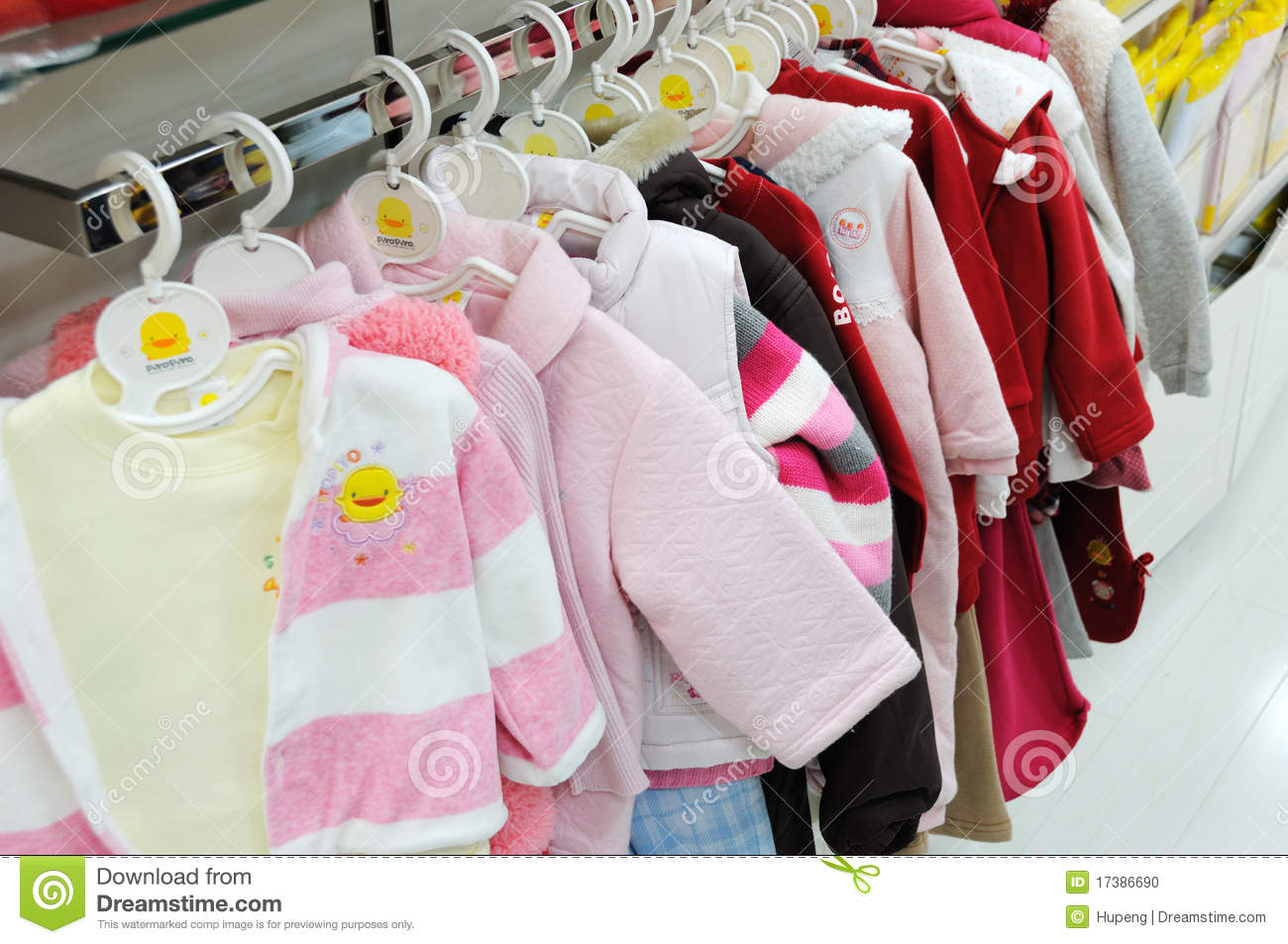 Babies Clothes In Shop Stock Photo - Image: 2096590