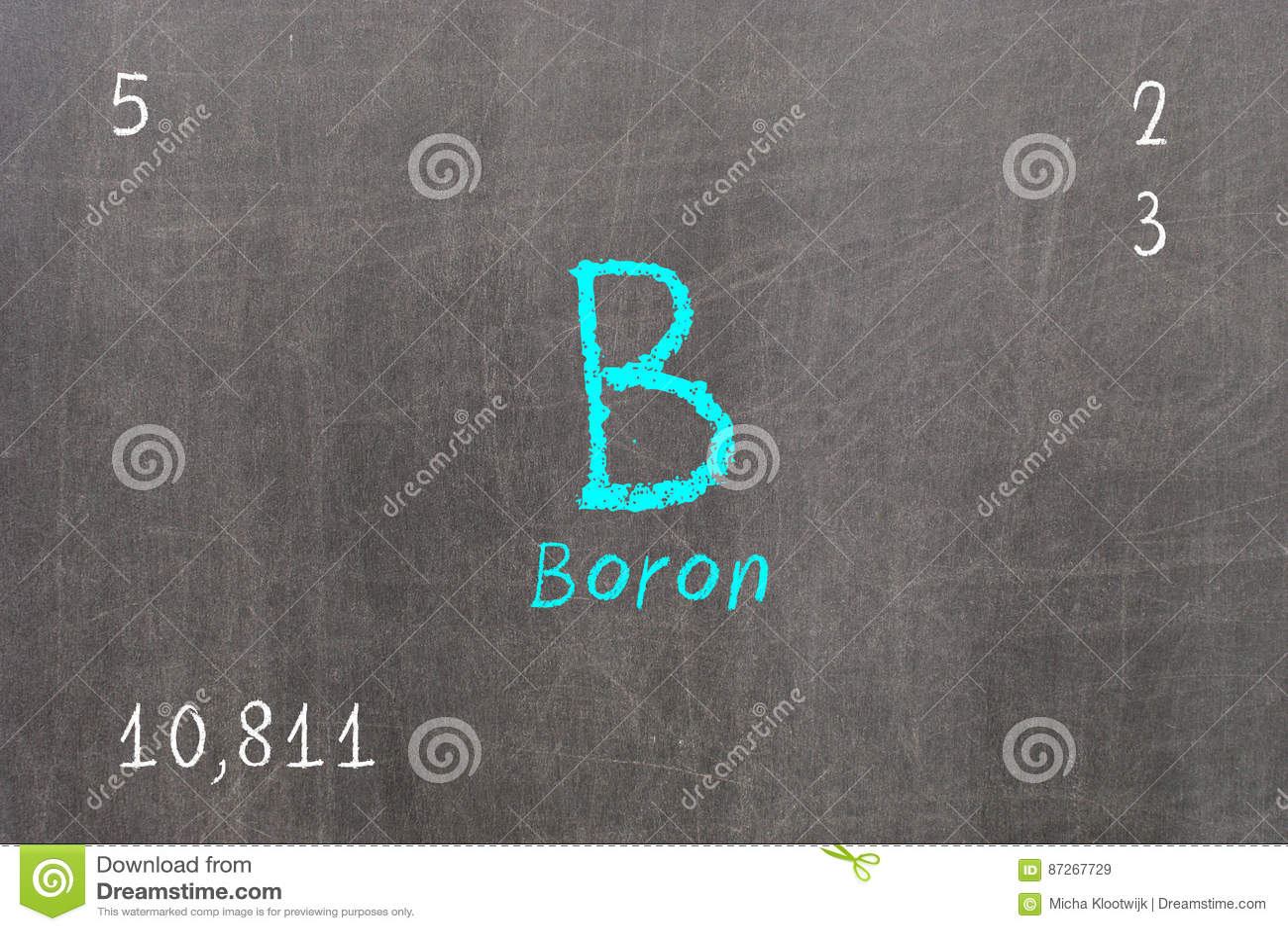 Pizarra con la tabla peridica boro stock de ilustracin download comp urtaz Images