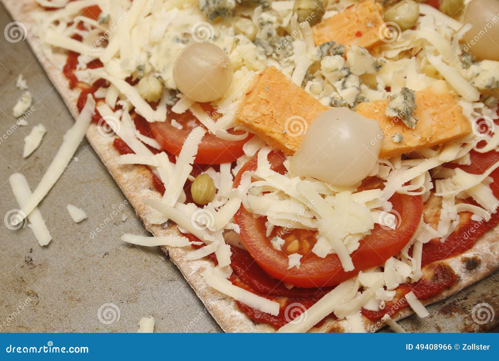 Download Pizza stockfoto. Bild von abendessen, vegetarier, pizza - 49408966