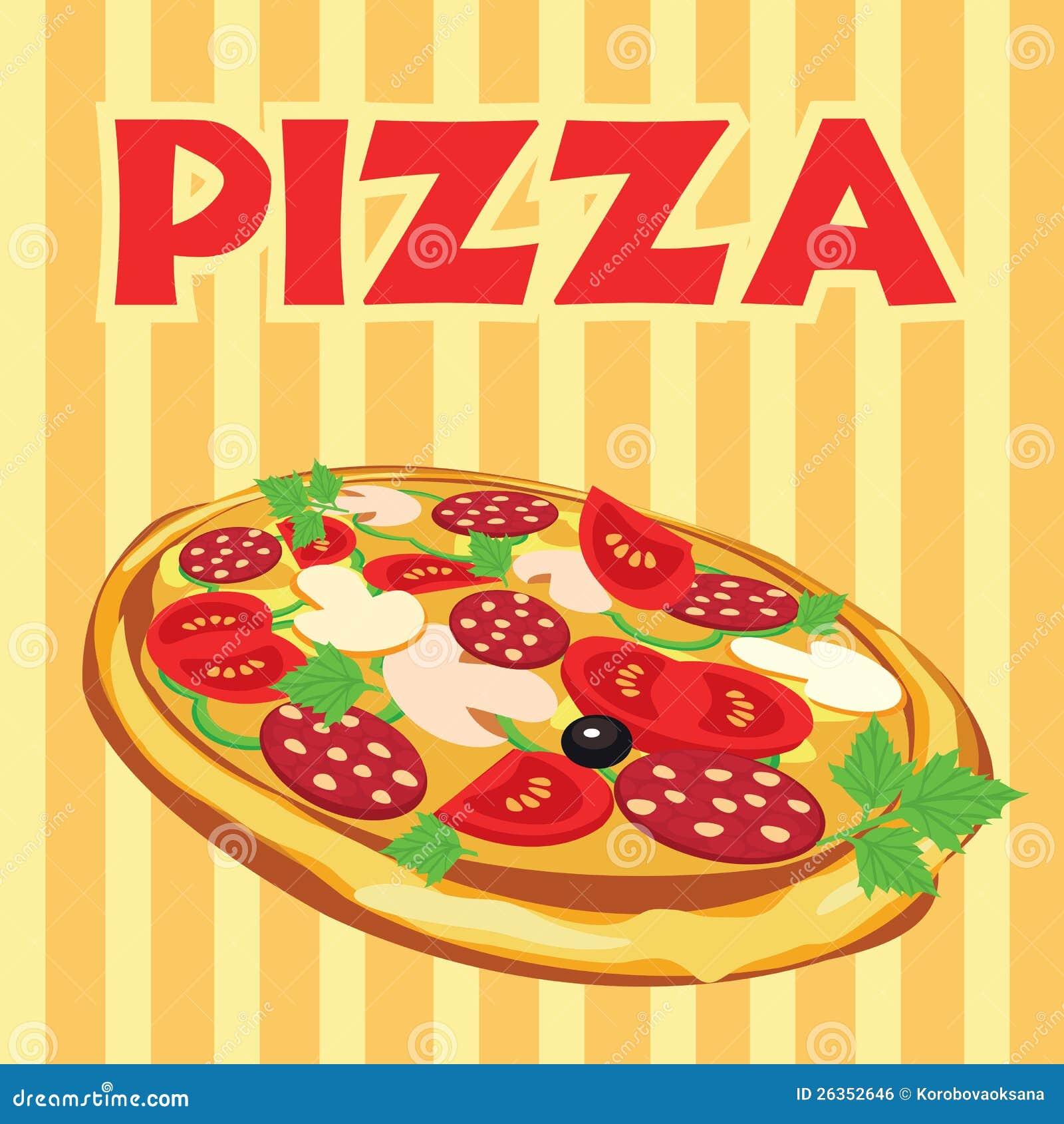 Pizza, Abbildung