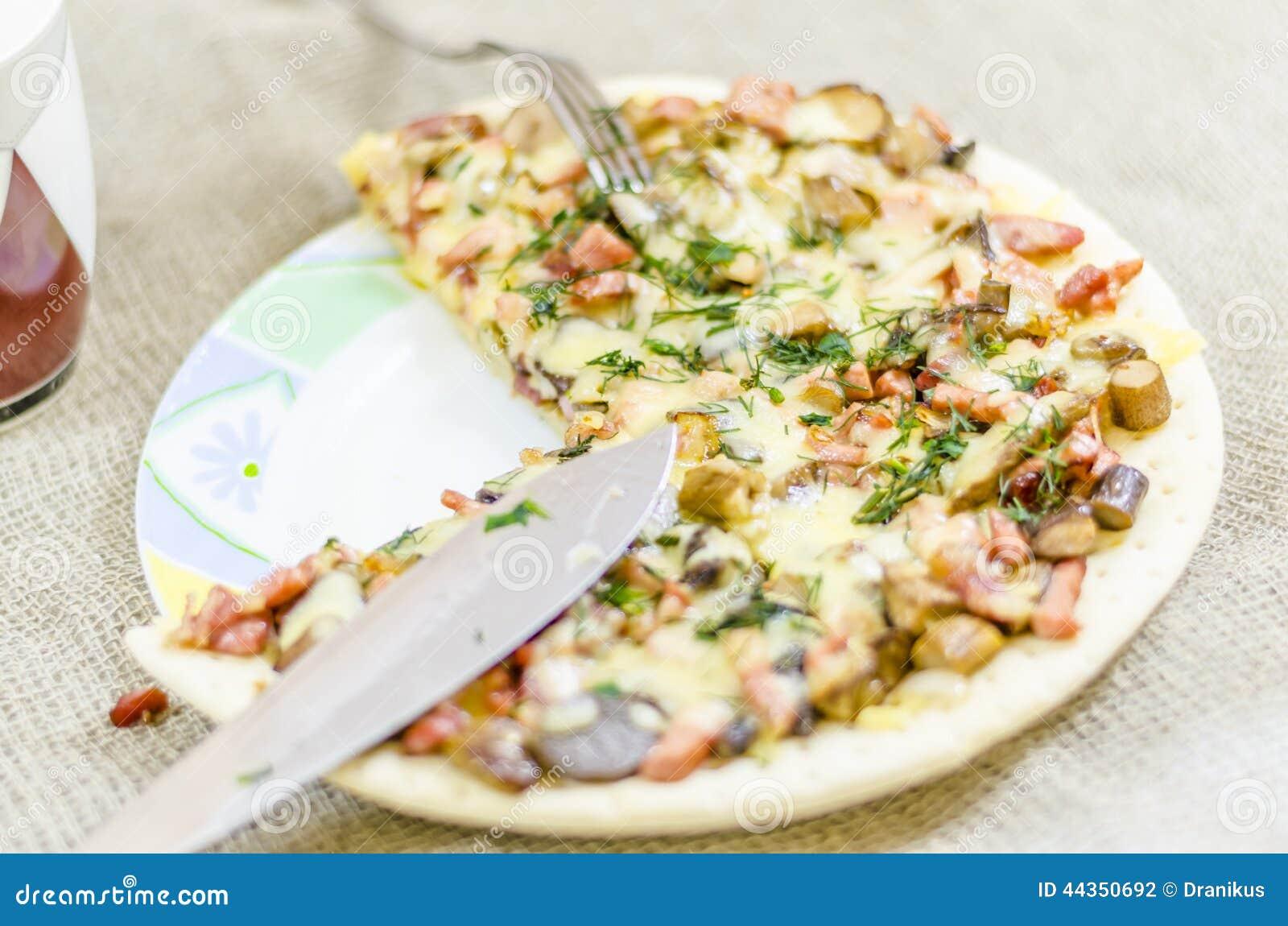 Pizza, alimento, fungo, formaggio, spuntino, buongustaio, pasticceria