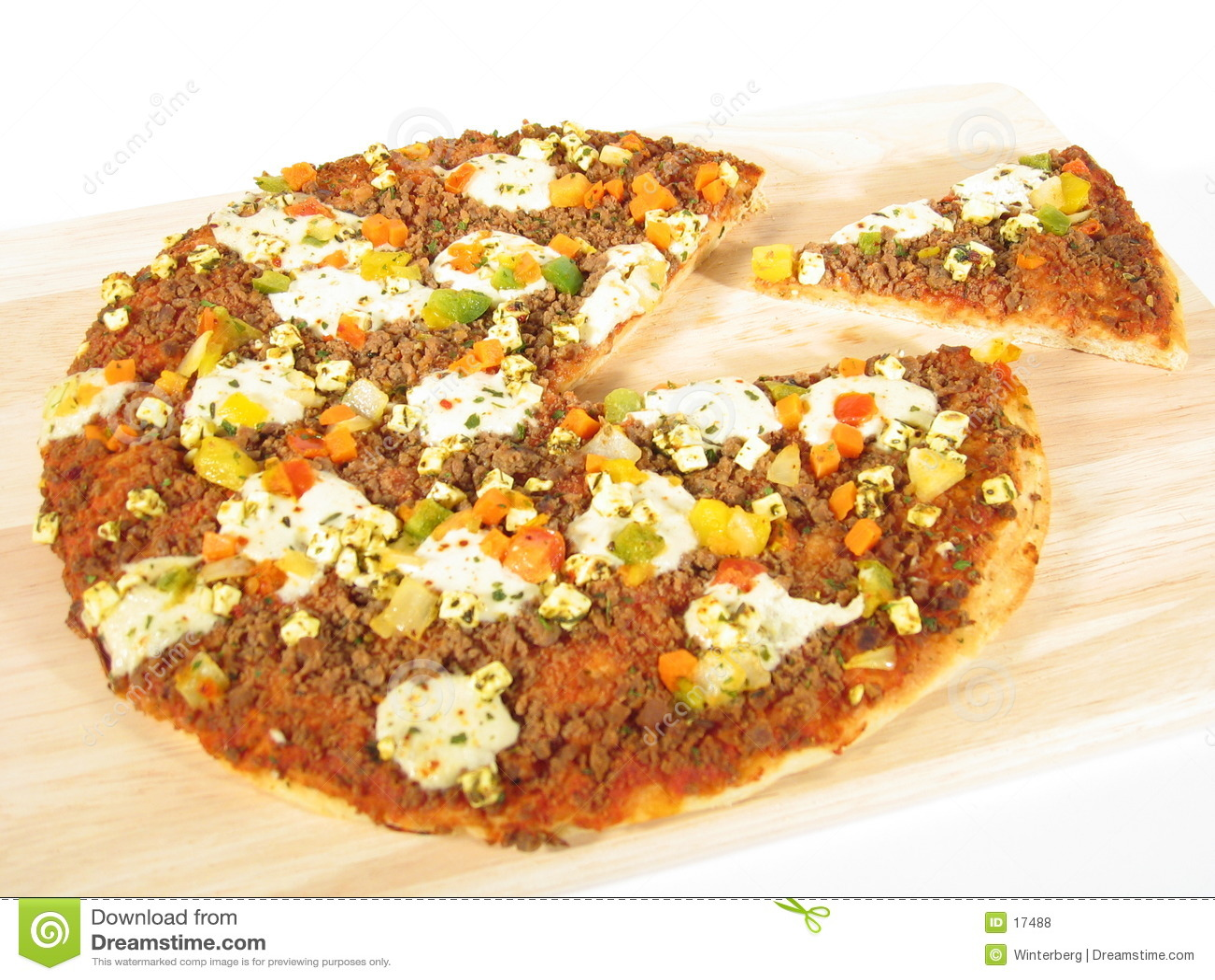 Pizza avec la partie