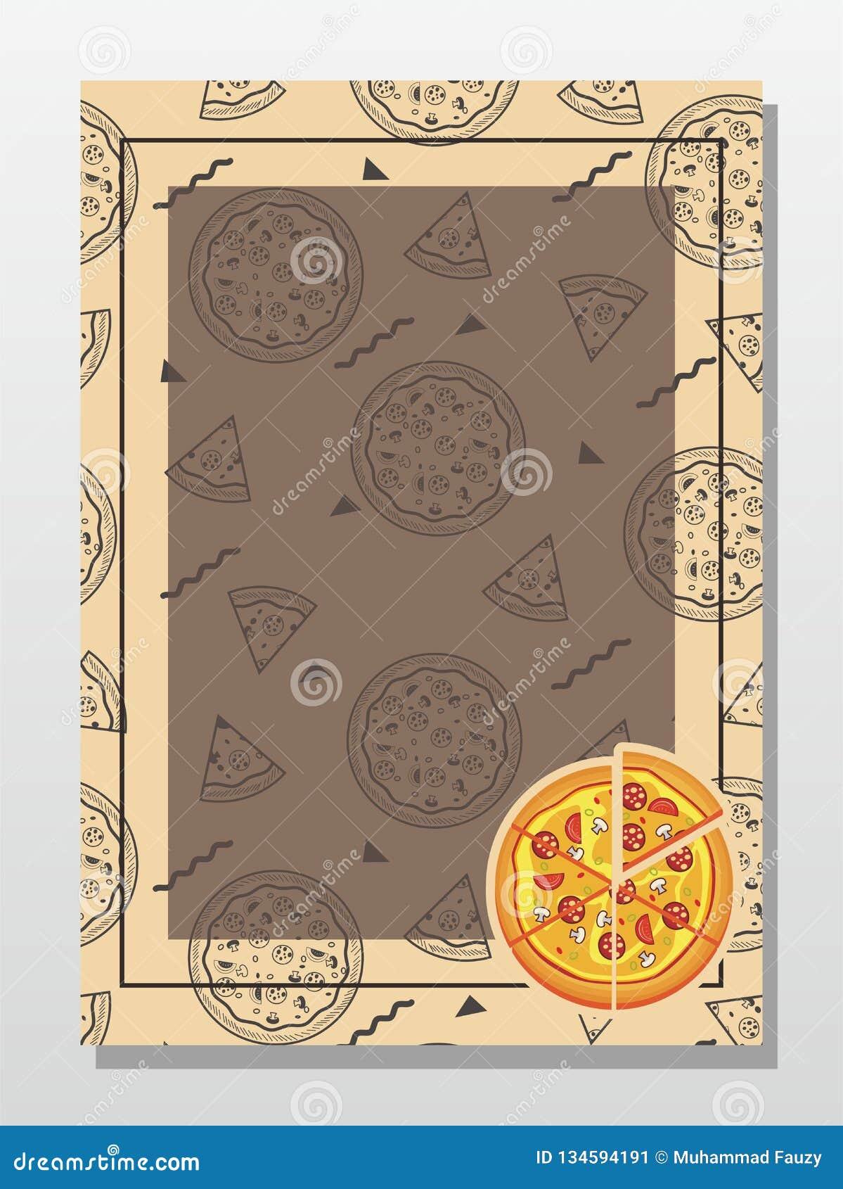 pizza background template for menucardposter design
