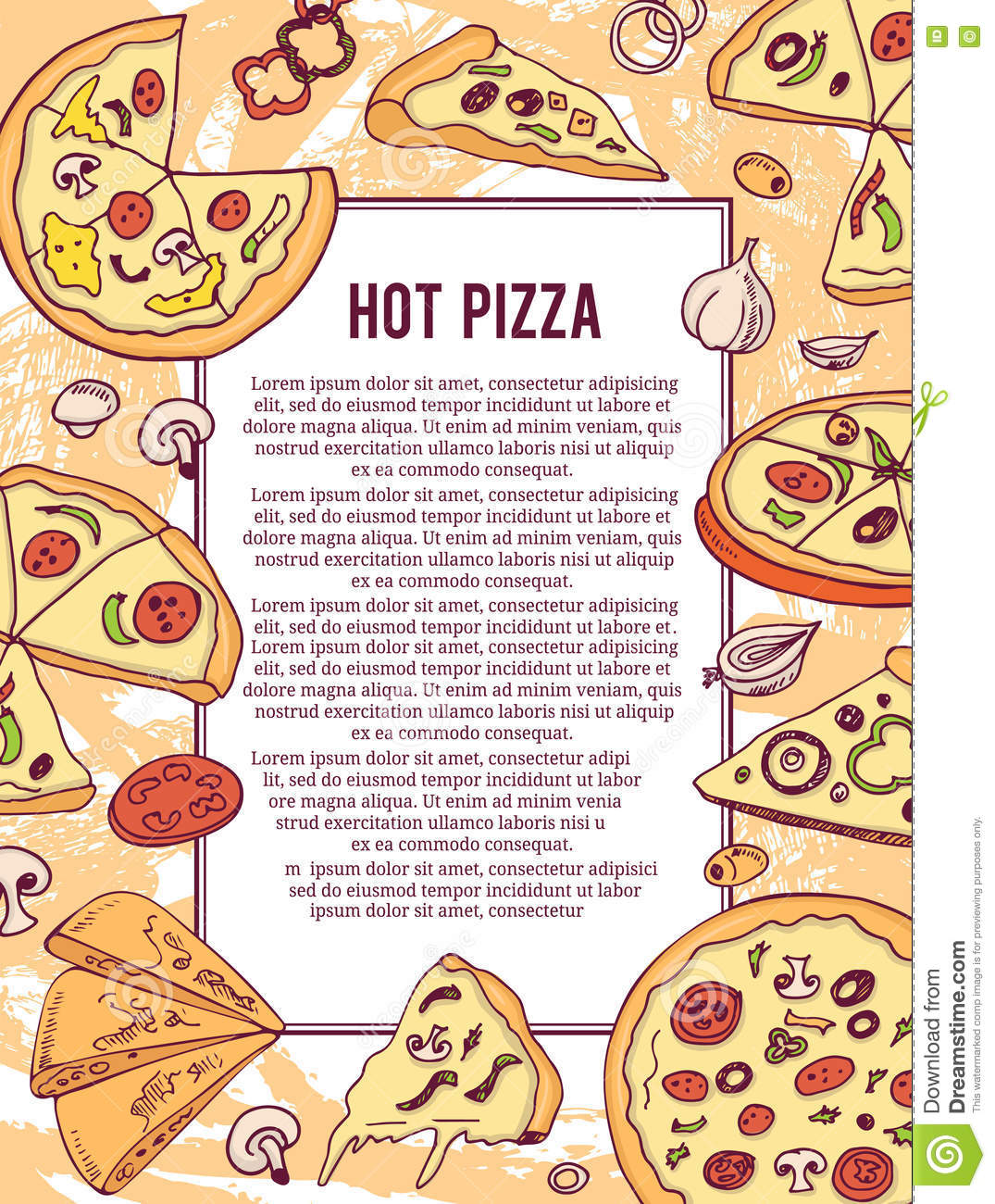 pizza banner or flyer good as a template of advertisement menu good as a template of advertisement menu card brochure and