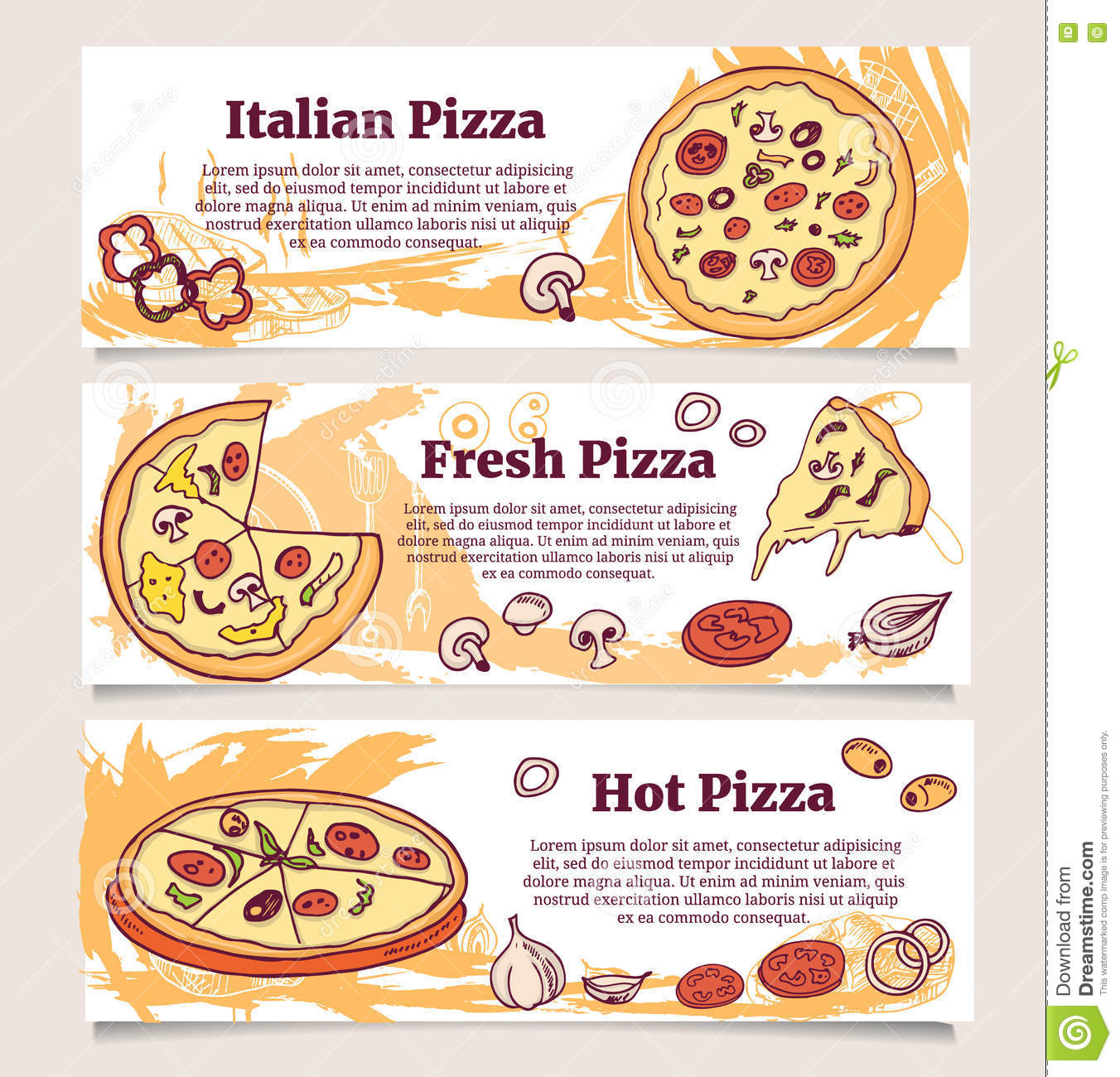 Pizza Banner Or Flyer. Good As A Template Of Advertisement, Menu ...