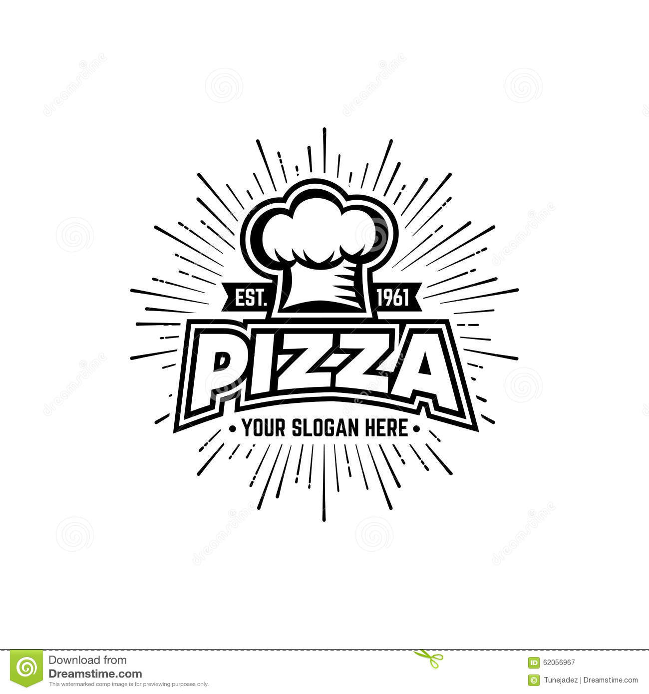pizza black and white stock vector  image of oven