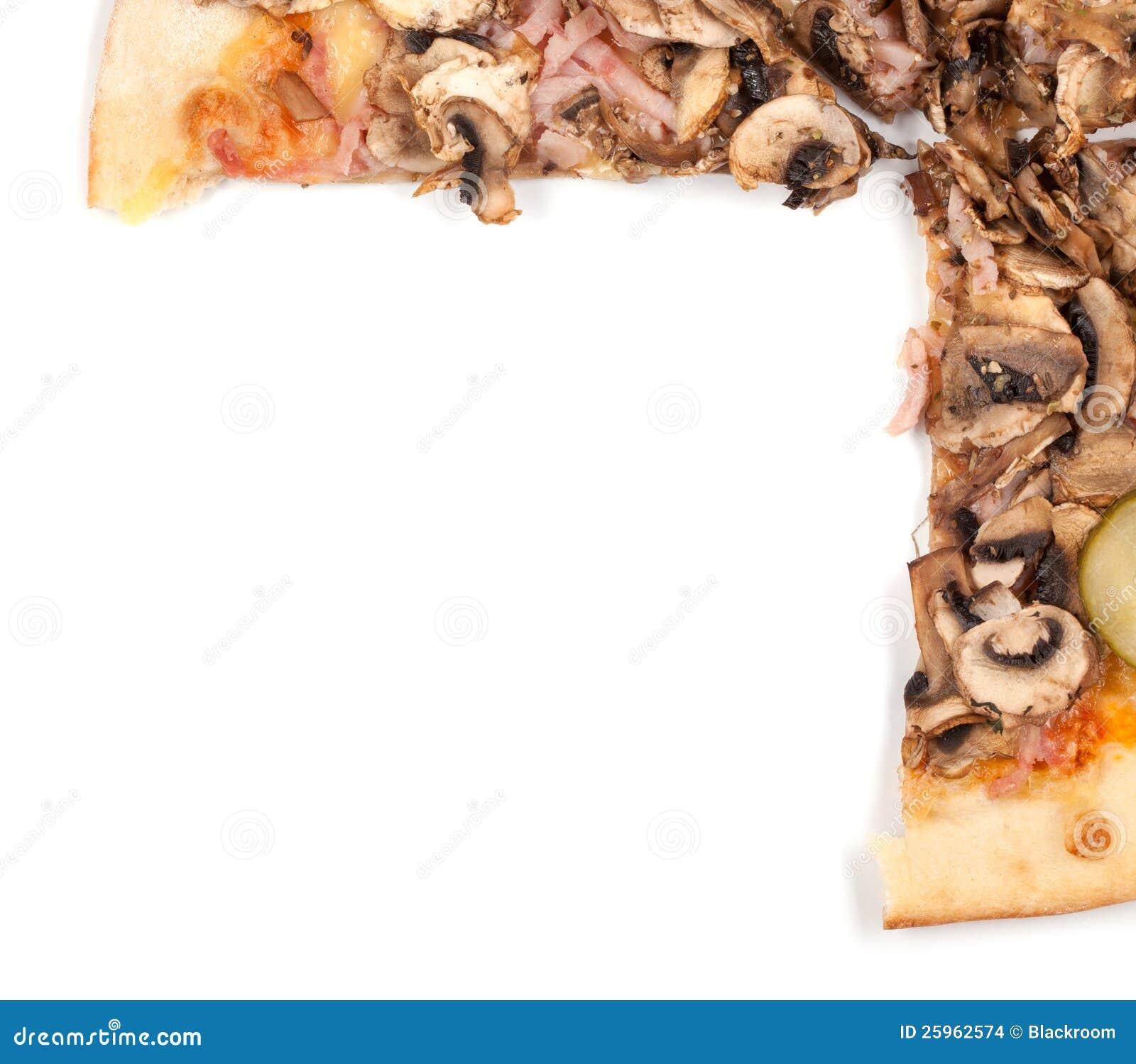 Pizza Border Stock Photo Image Of Pizza Portion