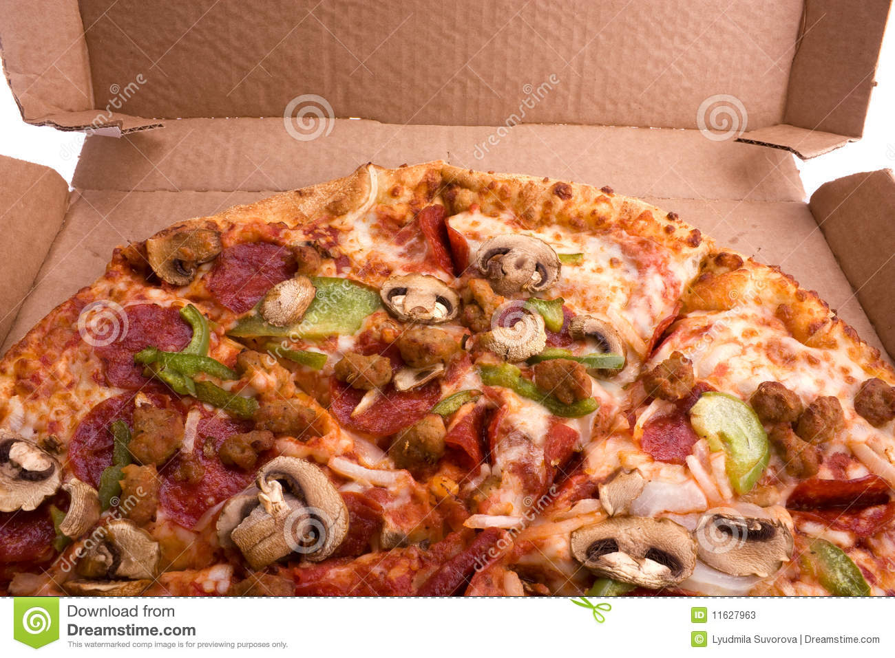 Pizza in a box stock photos image 11627963 for Jack in the box fish and chips