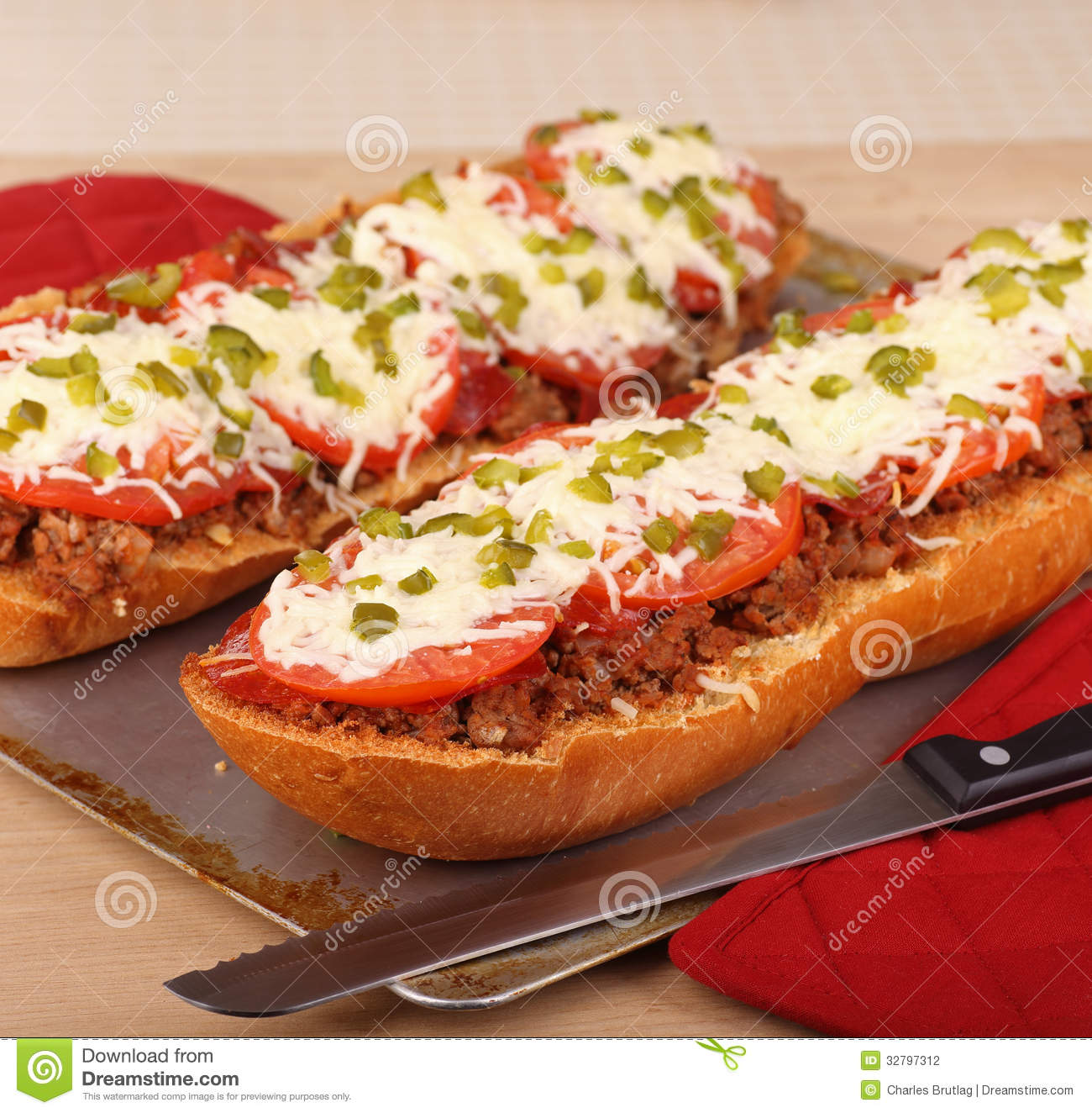 Pizza Bread Stock Photography - Image: 32797312
