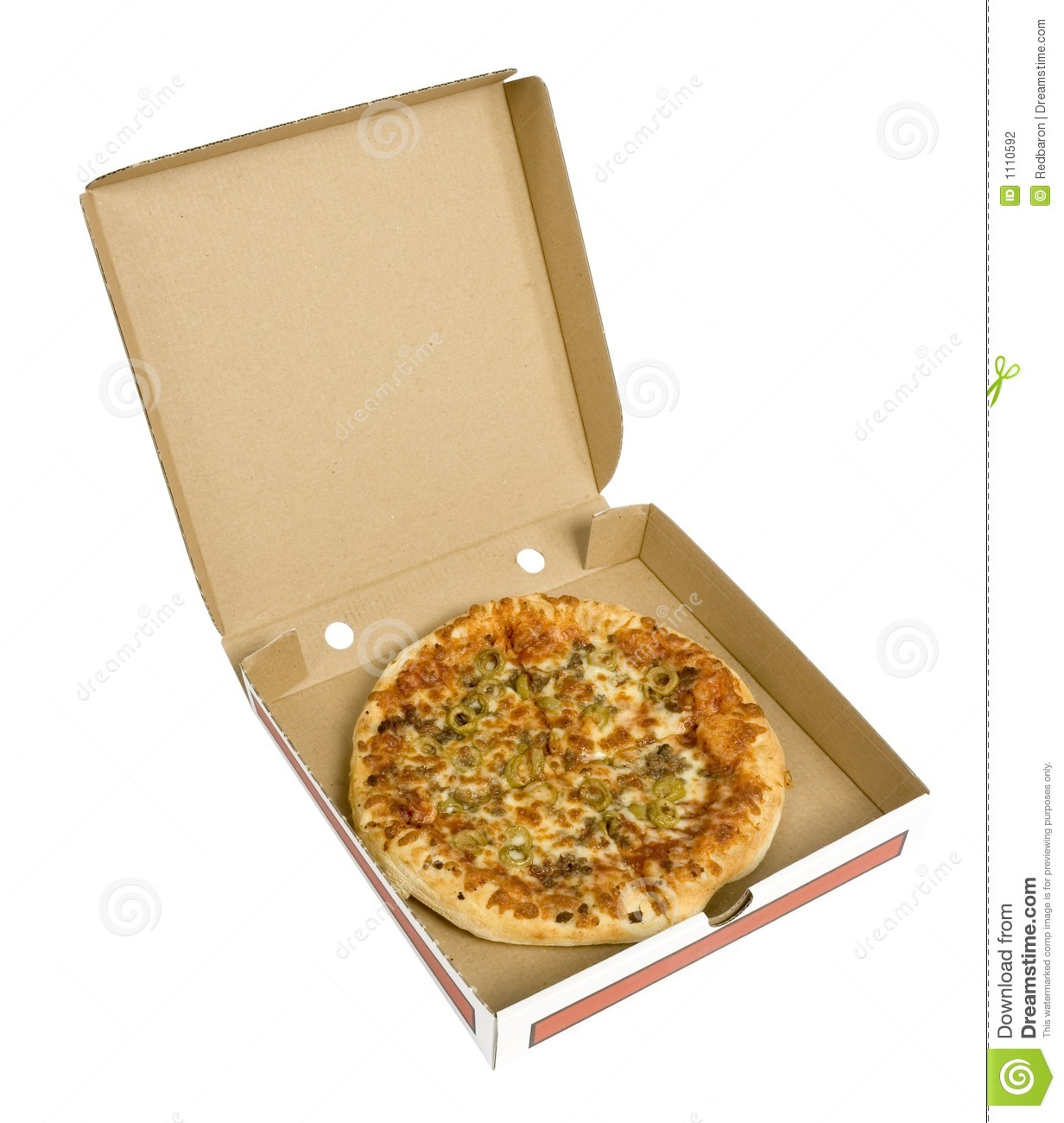 Pizza In Cardboard Box Stock Photography Image 1110592
