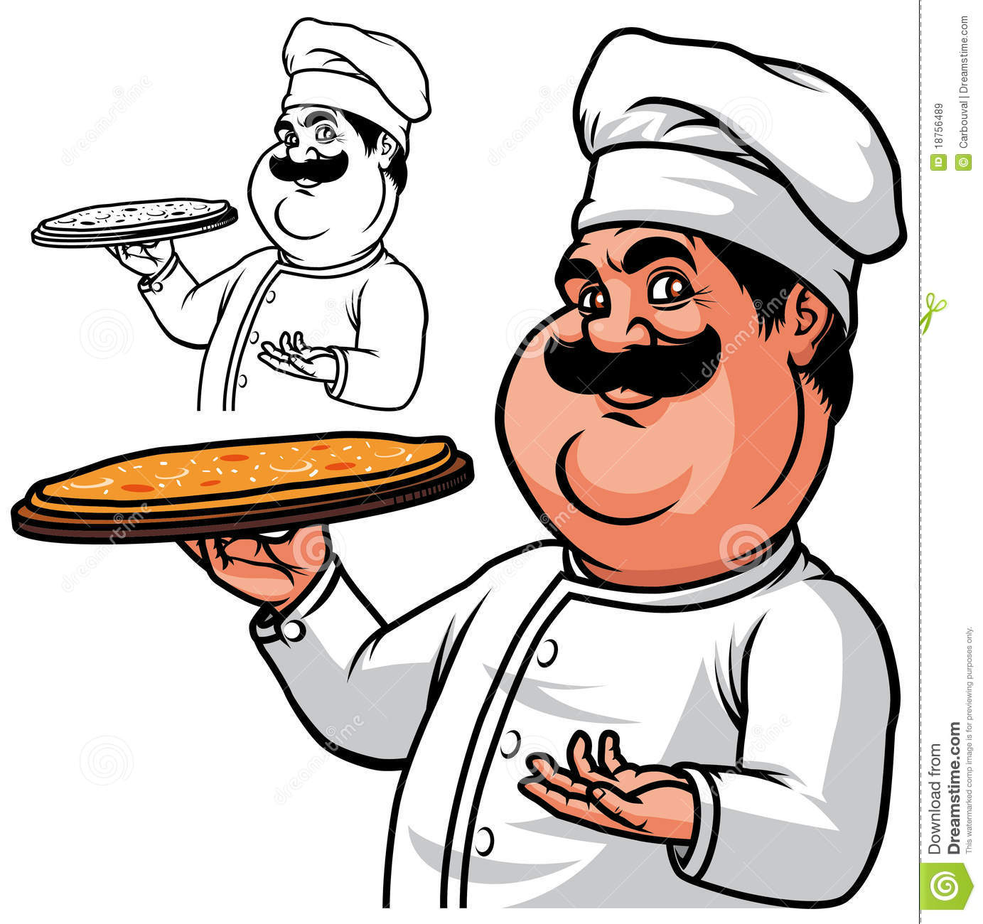 Fat Chef Pizza Stock Illustrations 269 Vectors Clipart Dreamstime