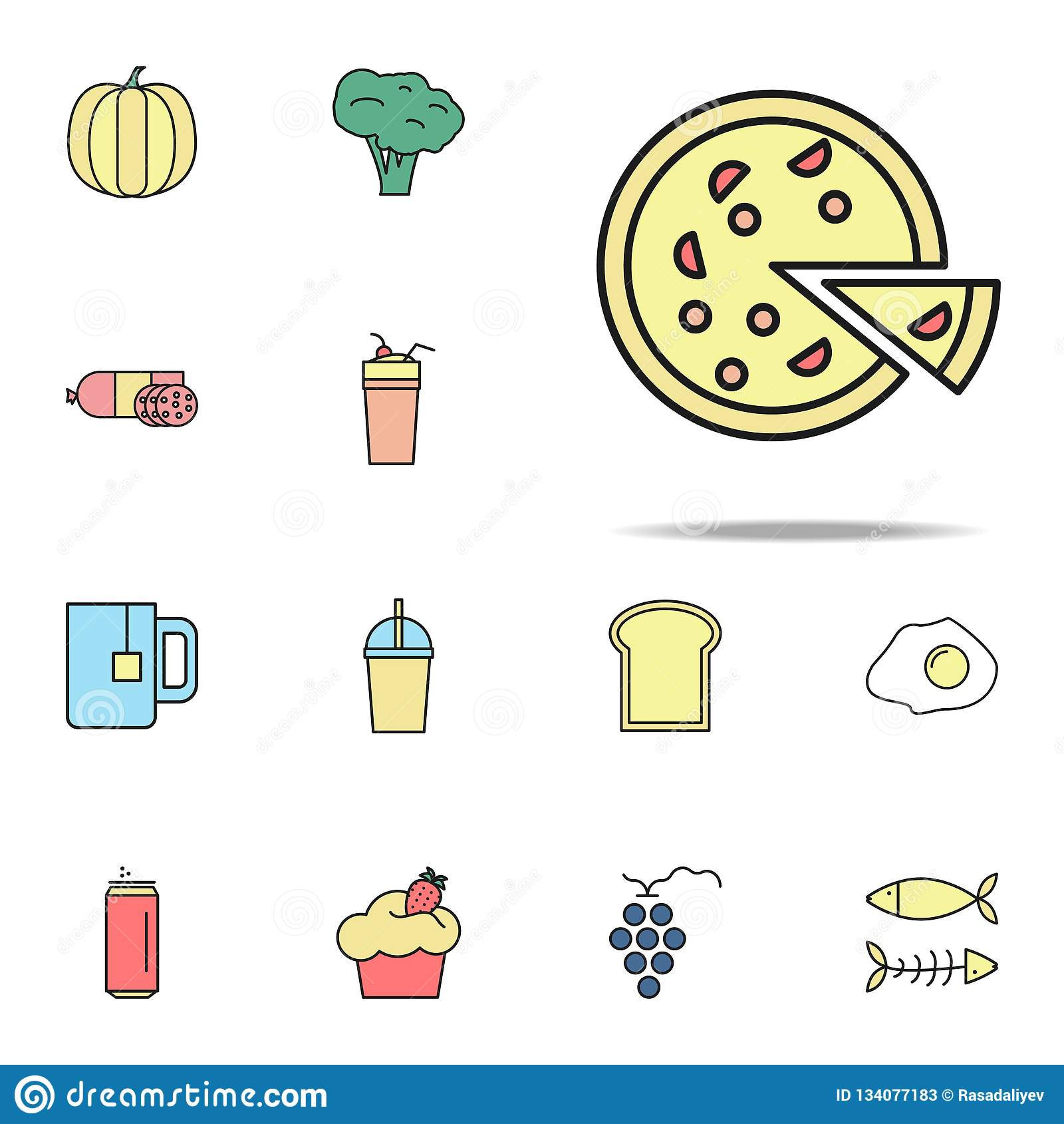 pizza colored icon. food icons universal set for web and mobile