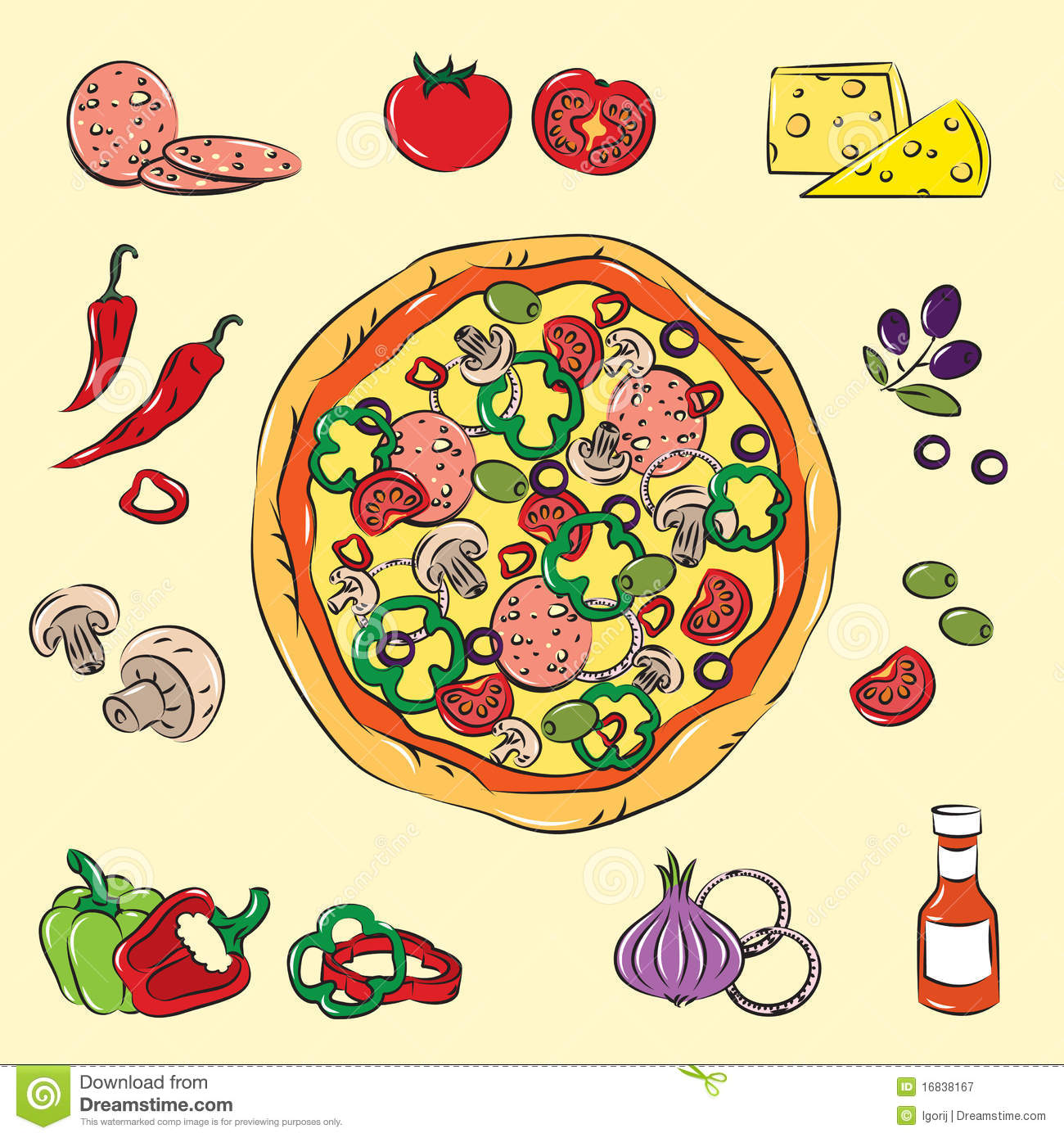 Image result for pizza colorida
