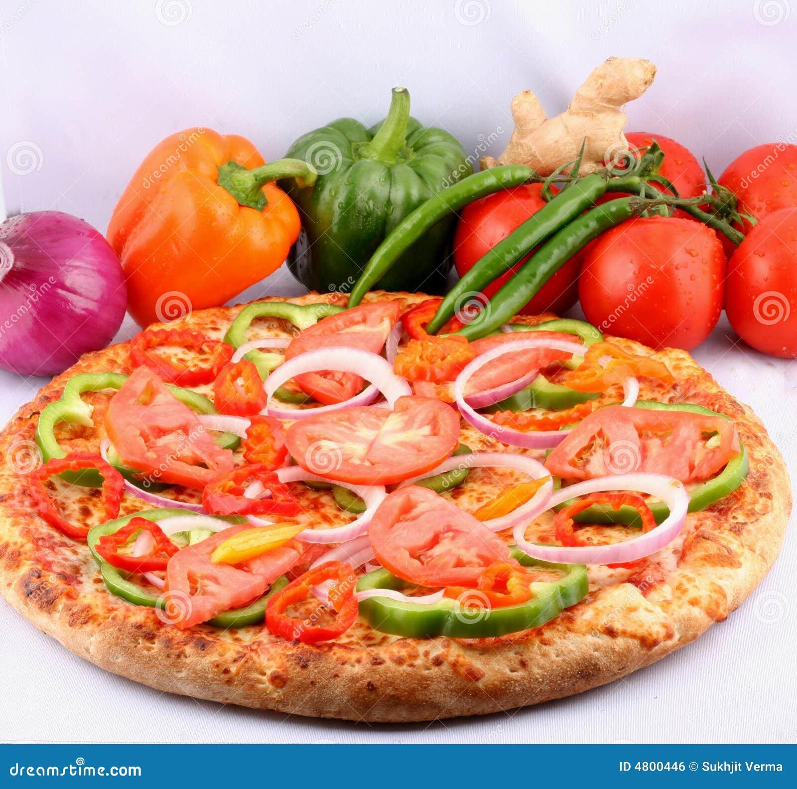 Pizza com coberturas