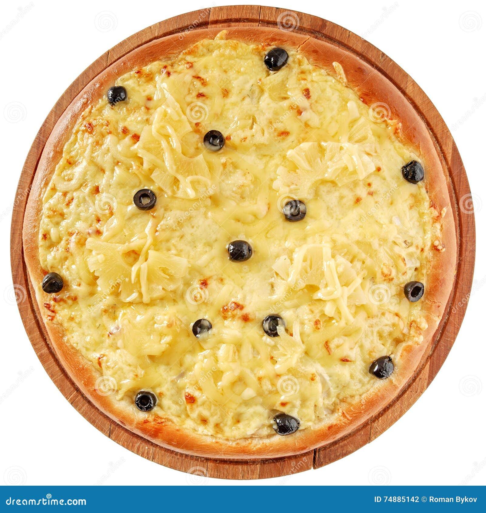 Pizza com galinha e abacaxi