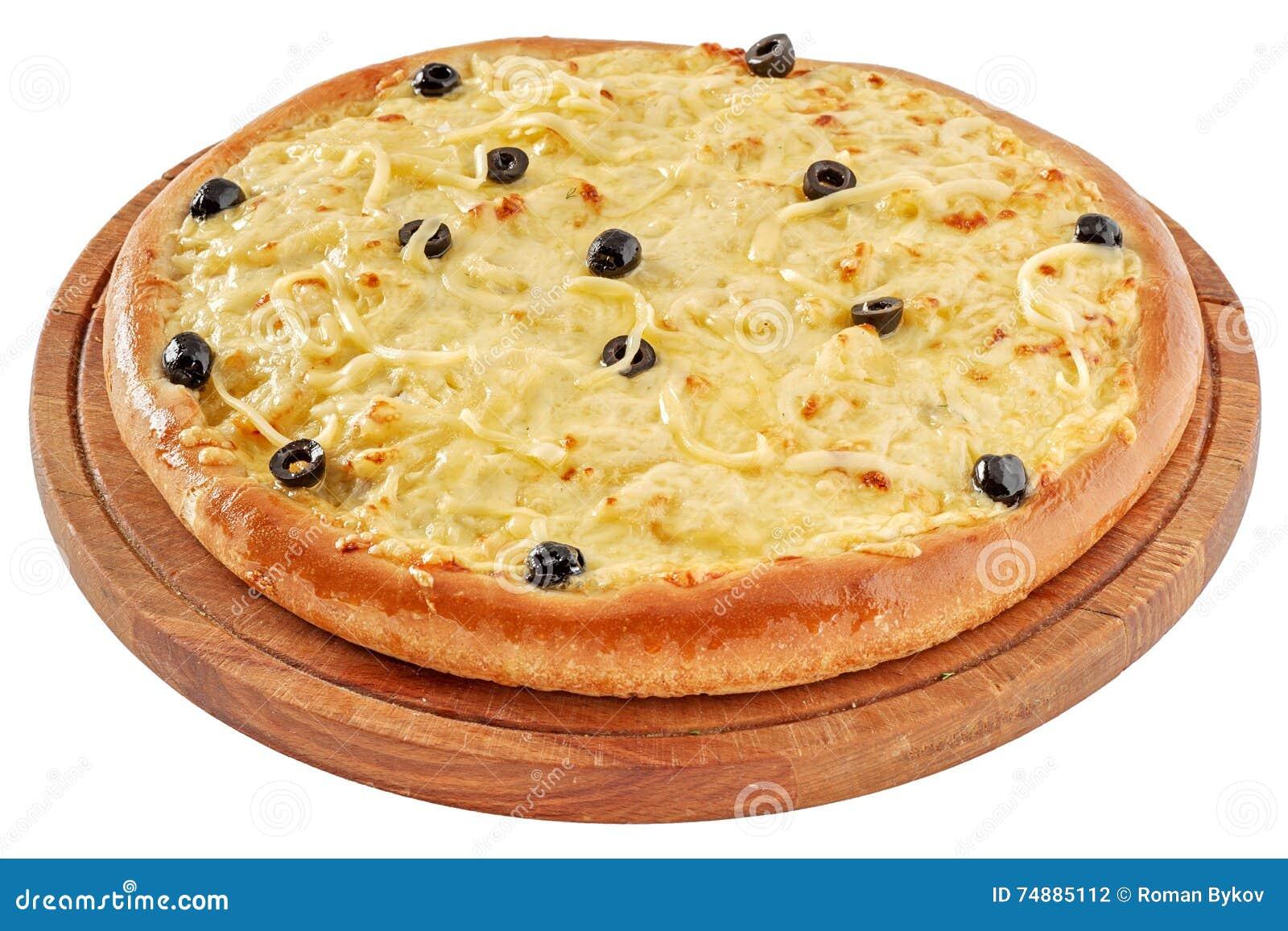 Pizza com galinha e queijo creme
