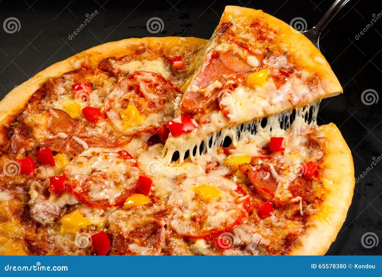 Pizza com presunto