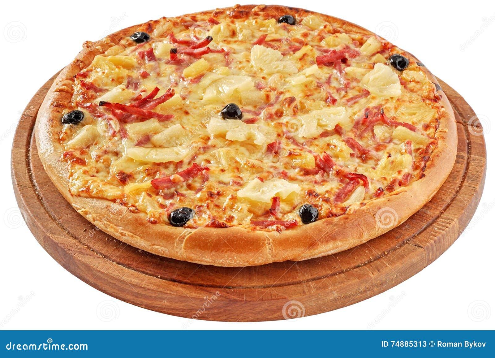 Pizza com presunto e abacaxi