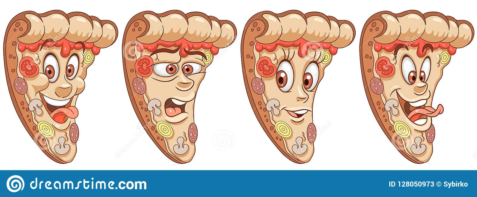 Pizza Concepto De La Comida De La Pizzería Ilustración Del
