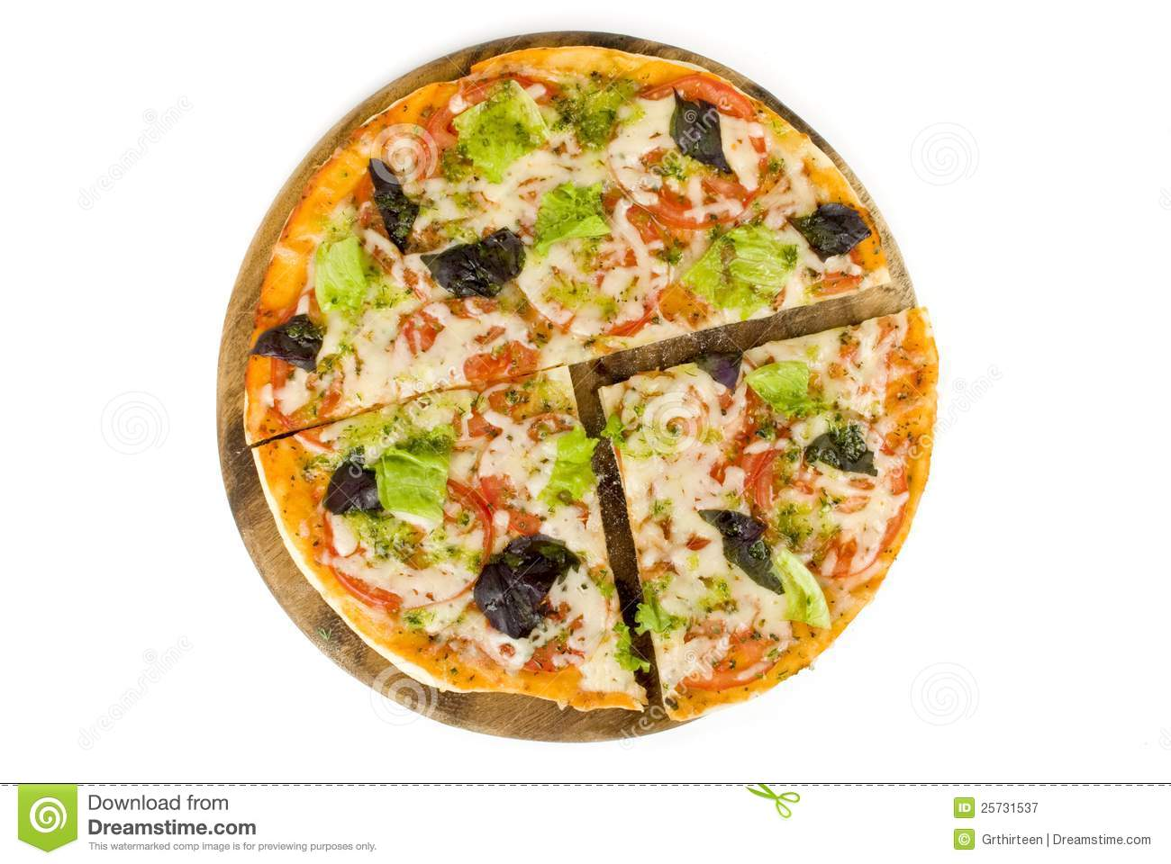Pizza with cut off slice