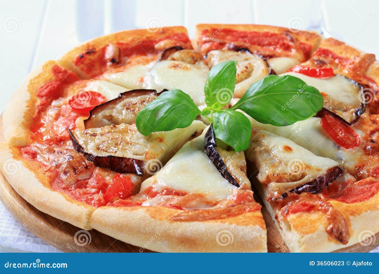 Pizza d aubergine et de fromage