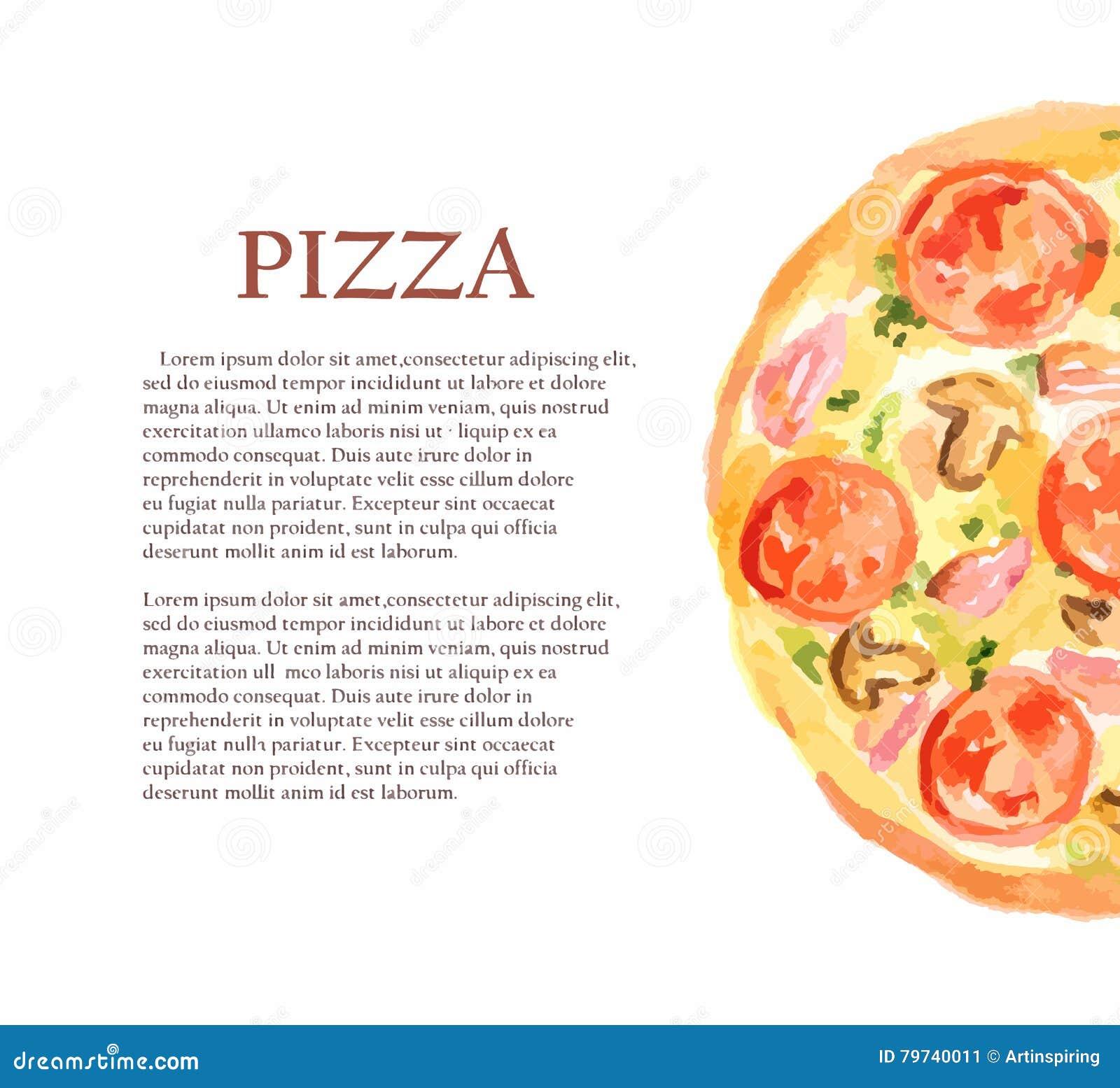 Pizza de la acuarela
