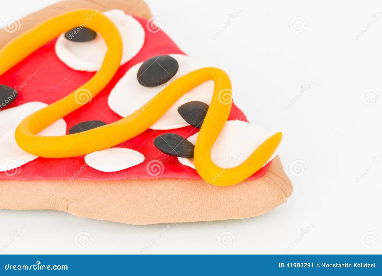 Pizza de la plastilina
