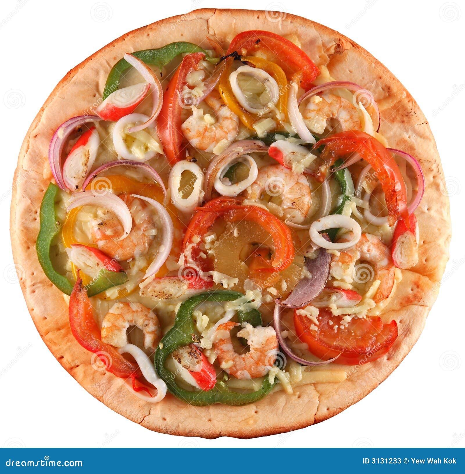 Pizza de los mariscos