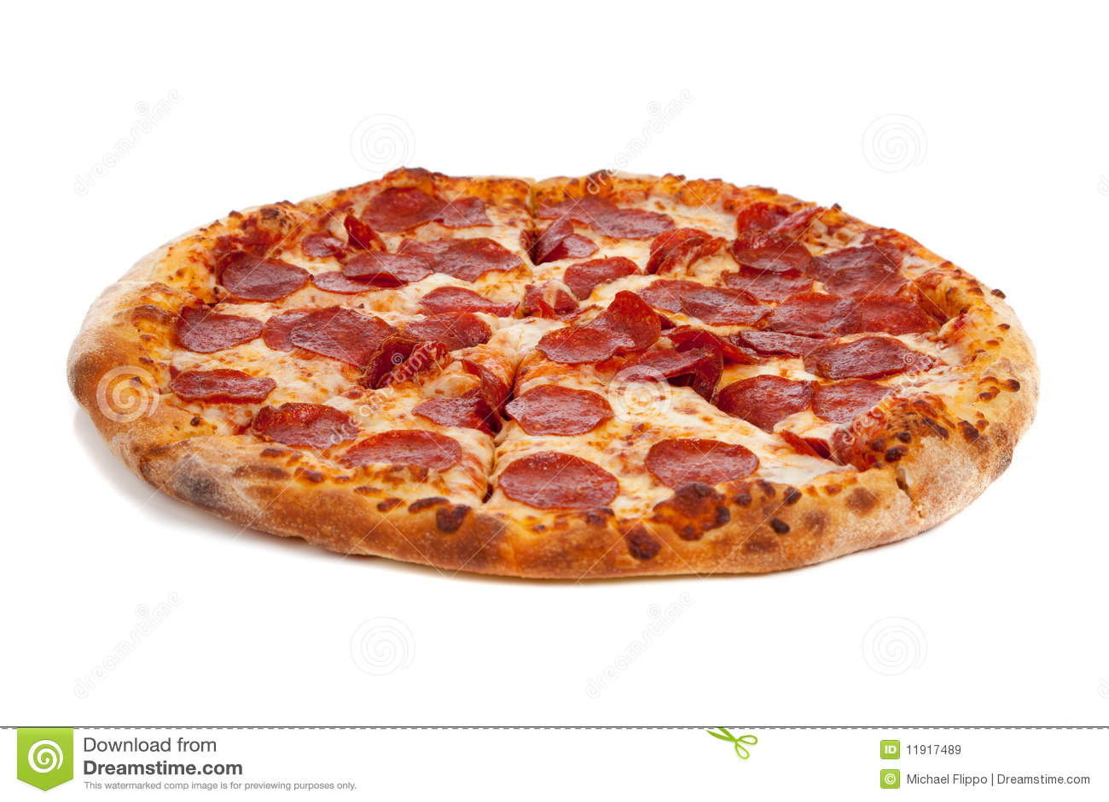 Pizza de pepperoni sur le blanc