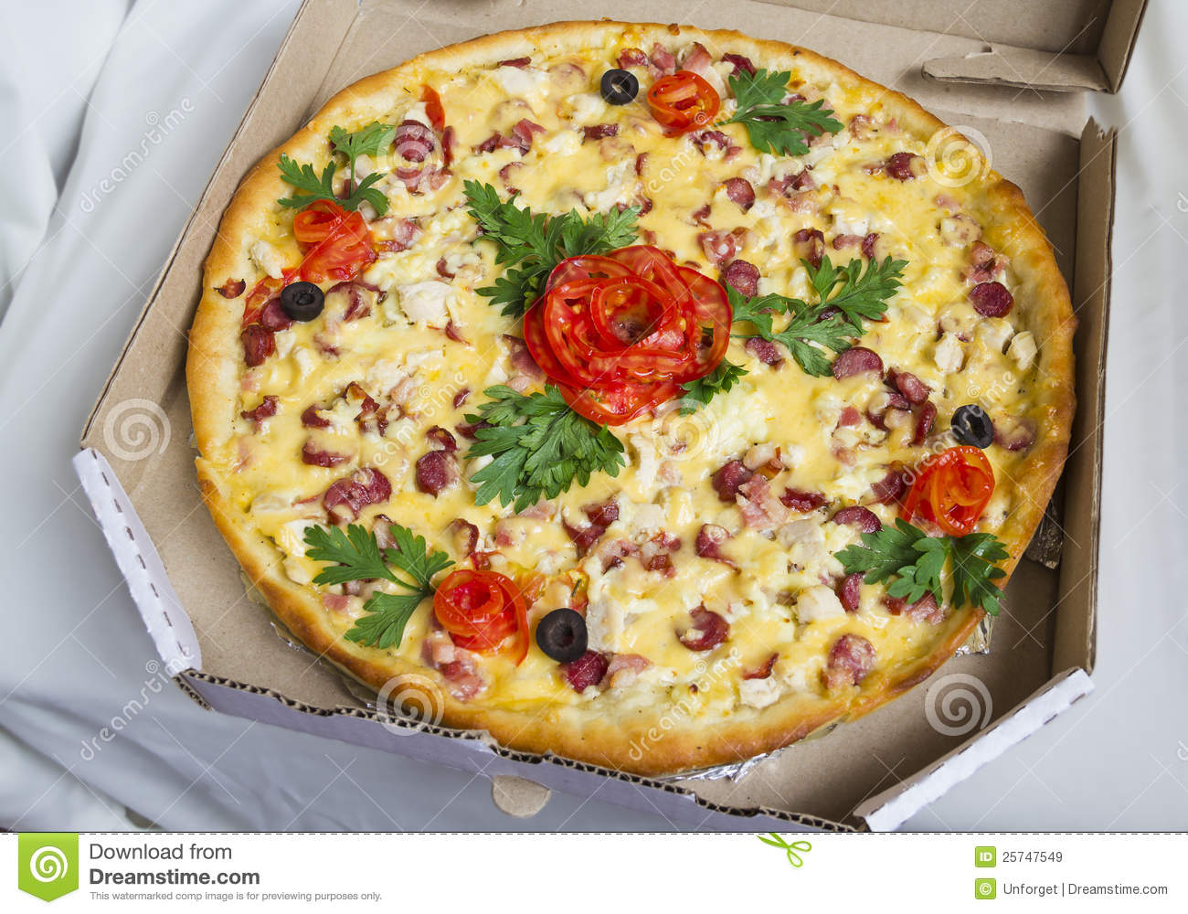 Pizza With A Decoration Royalty Free Stock Images Image 25747549