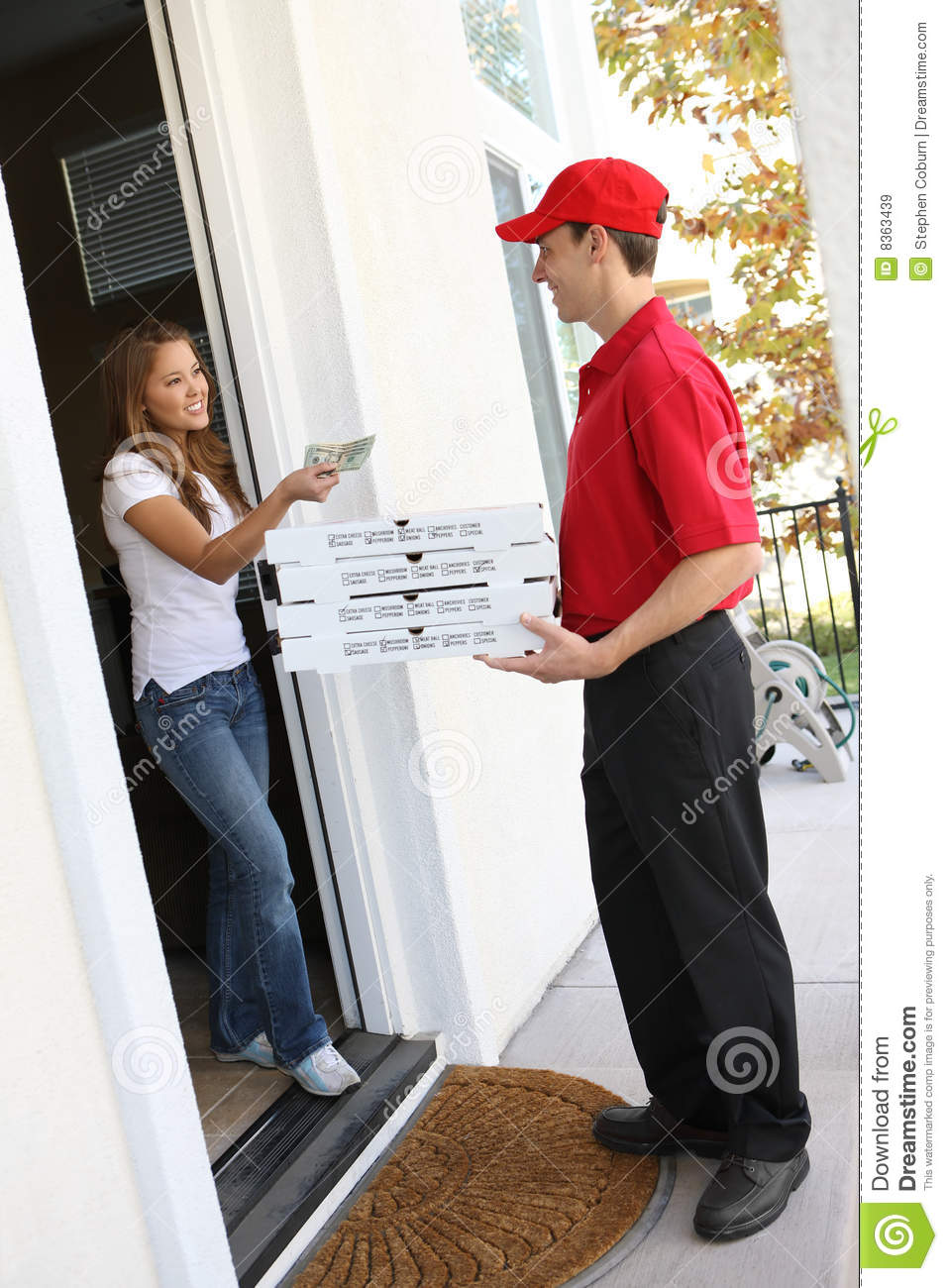 Pizza Delivery Royalty Free Stock Images Image 8363439