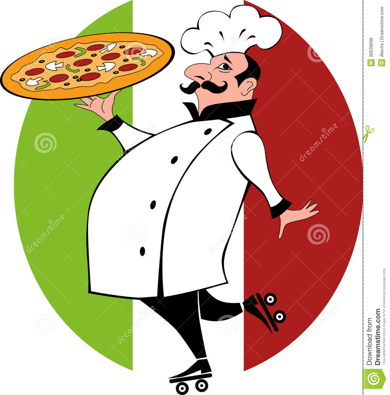 Pizza delivery guy stock vector. Illustration of serving - 30639696