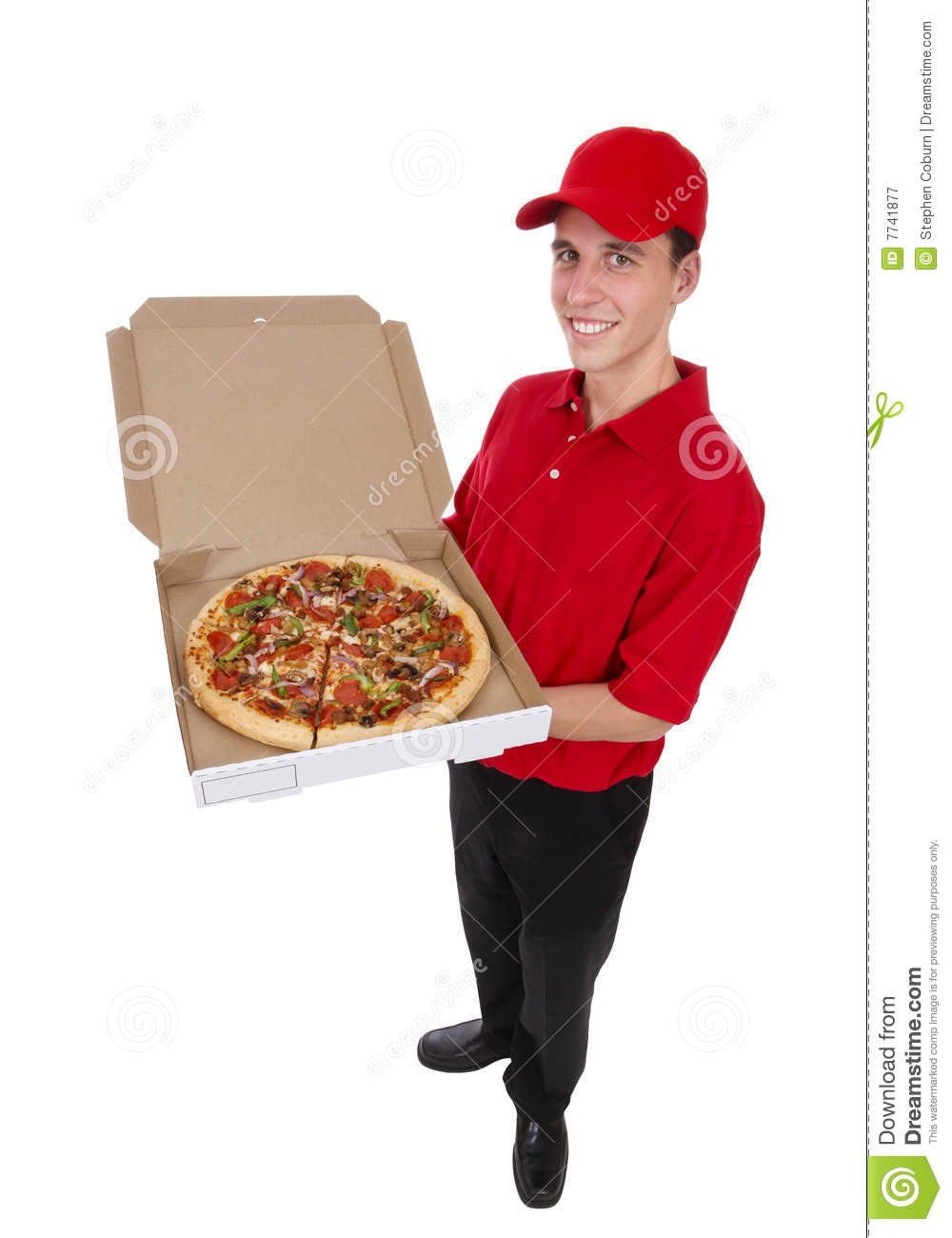 Pizza Delivery Man Royalty Free Stock Photography - Image: 7741877