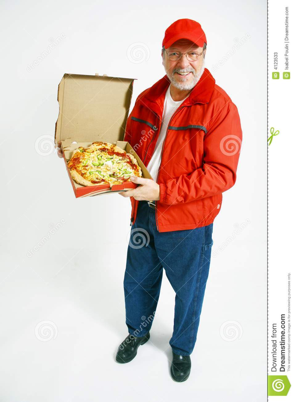 Pizza Delivery Man In Uniform Stock Photos - Image: 4123533