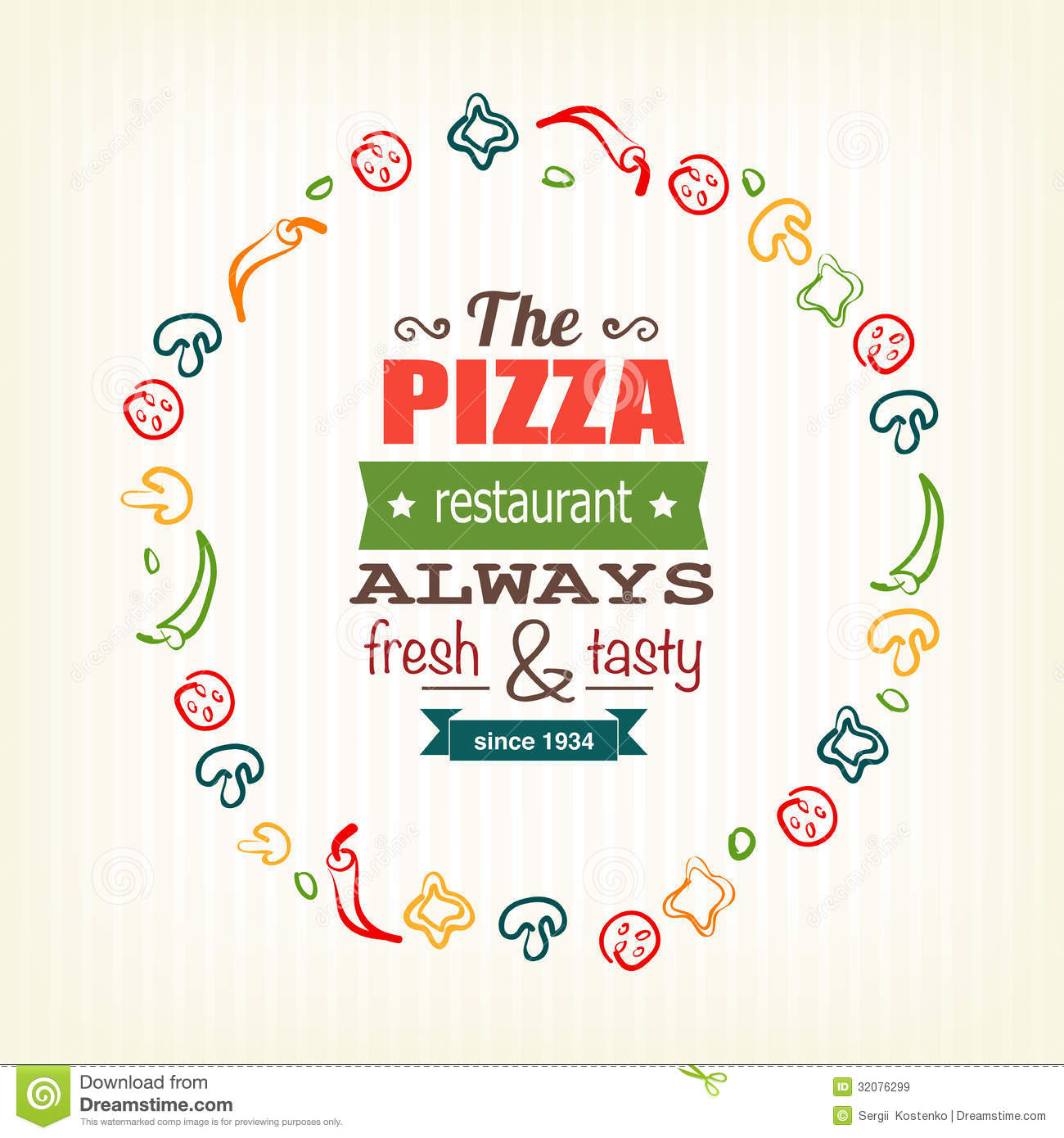 Pizza Design Template For Menu, Banner, Advertising Etc Royalty Free ...