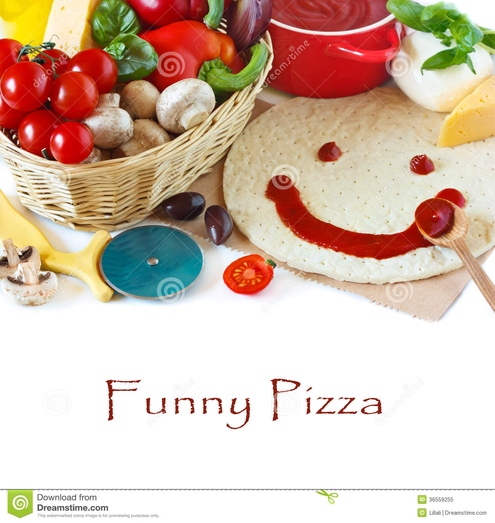 Pizza divertente.