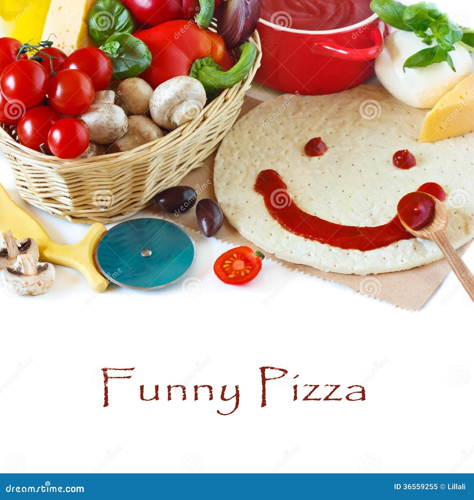 Pizza divertida.