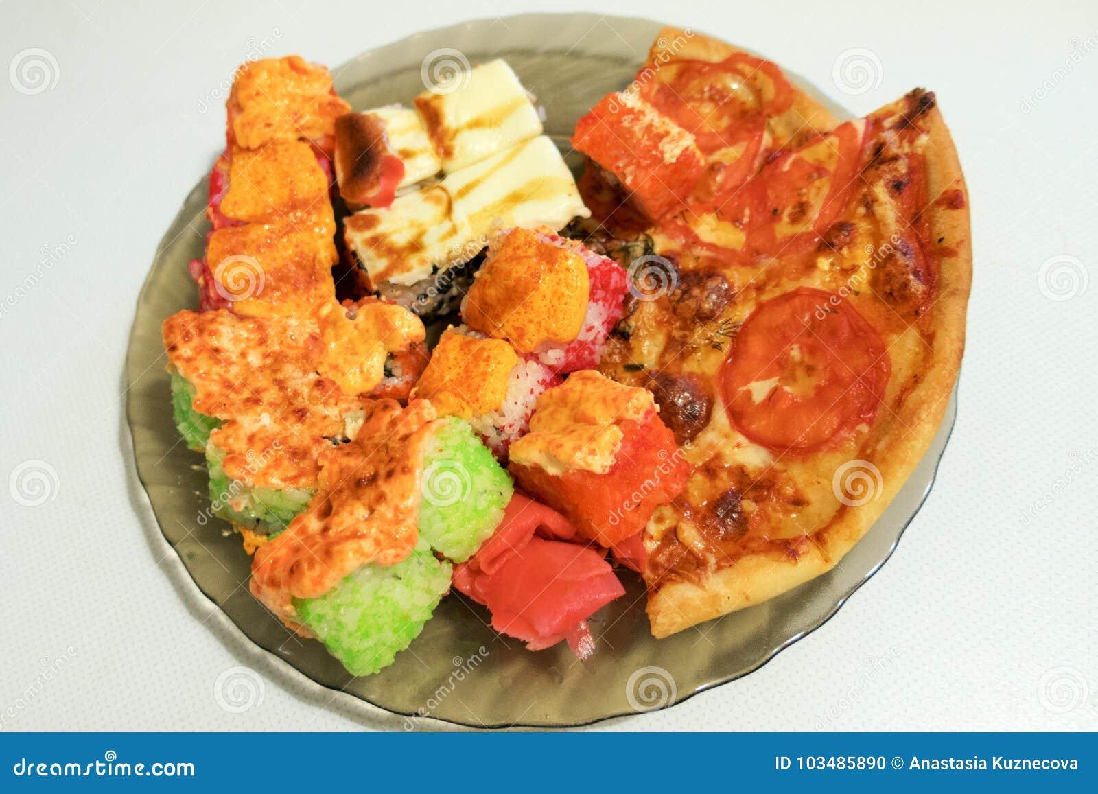 Pizza e rolos
