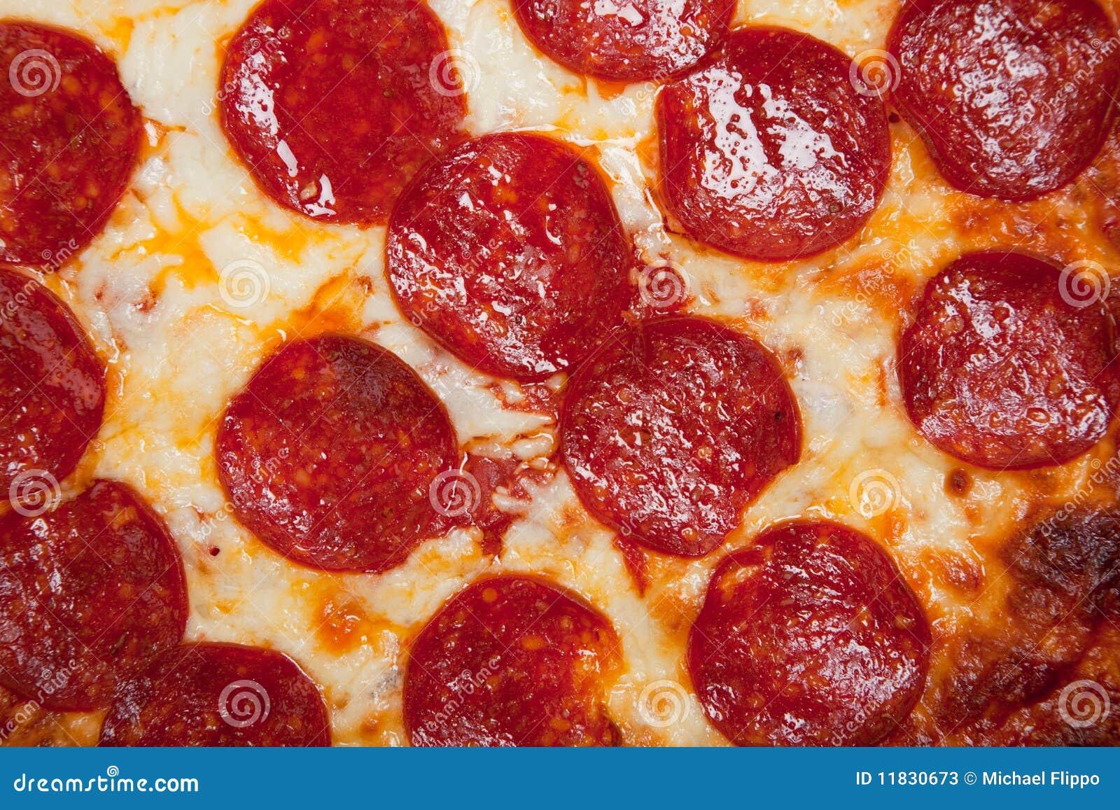 Pizza för bakgrundsostpeperoni