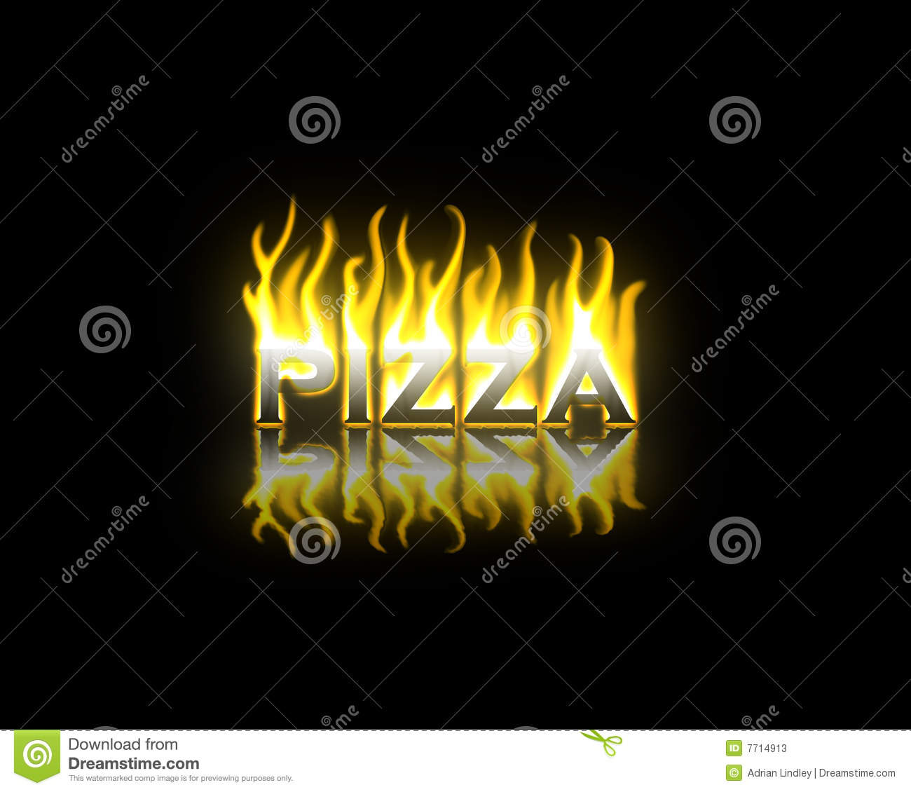 Pizza on Fire stock illustration  Illustration of woodfired