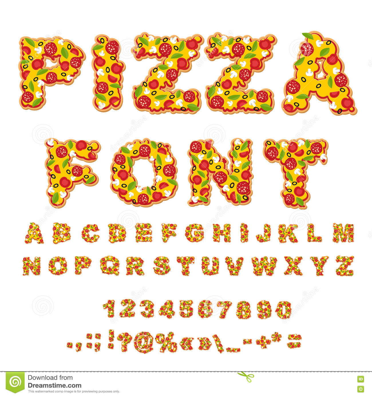 Pizza font related keywords pizza font long tail for Cuisine font